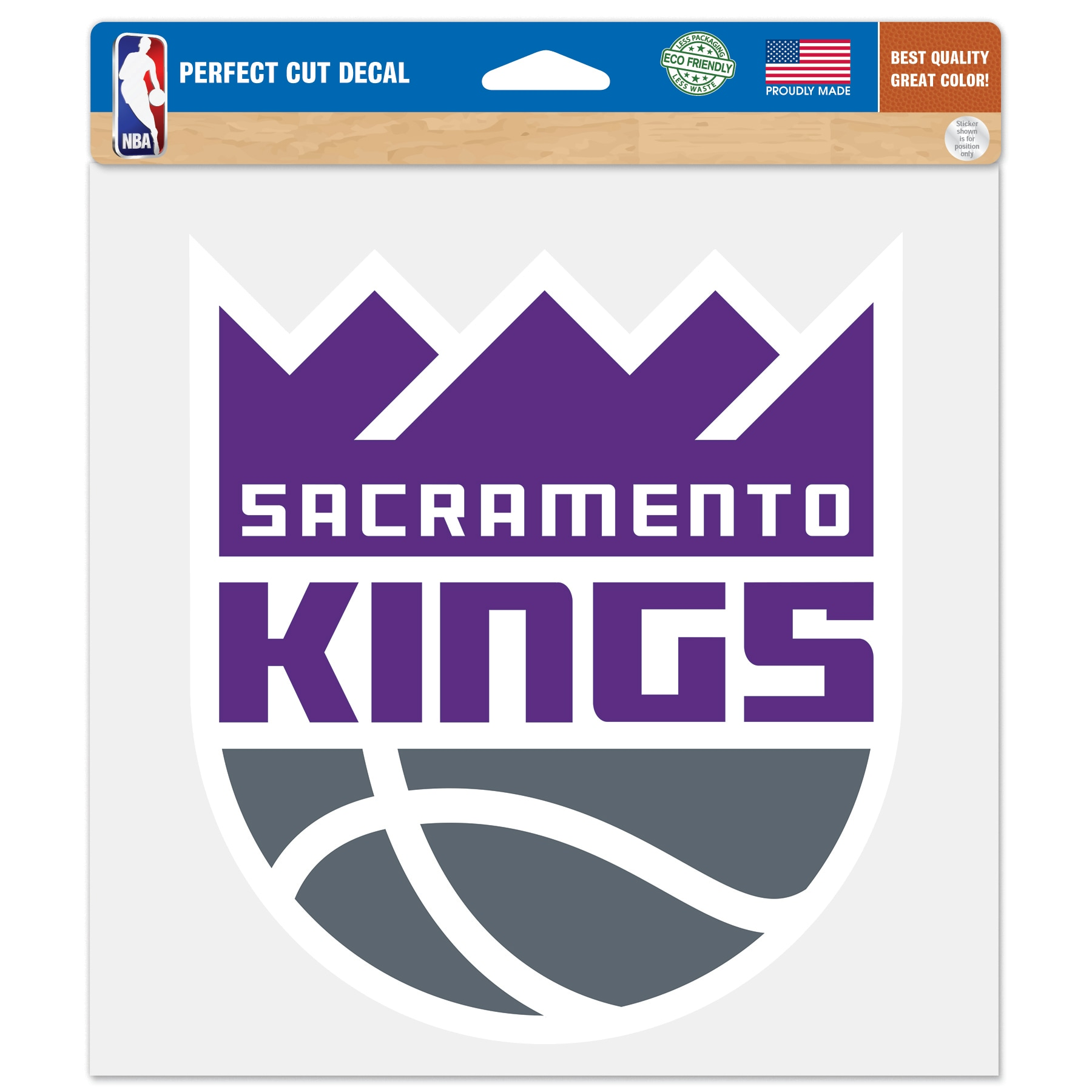 Sacramento Kings WinCraft 8'' x 8'' Color Perfect Cut Decal
