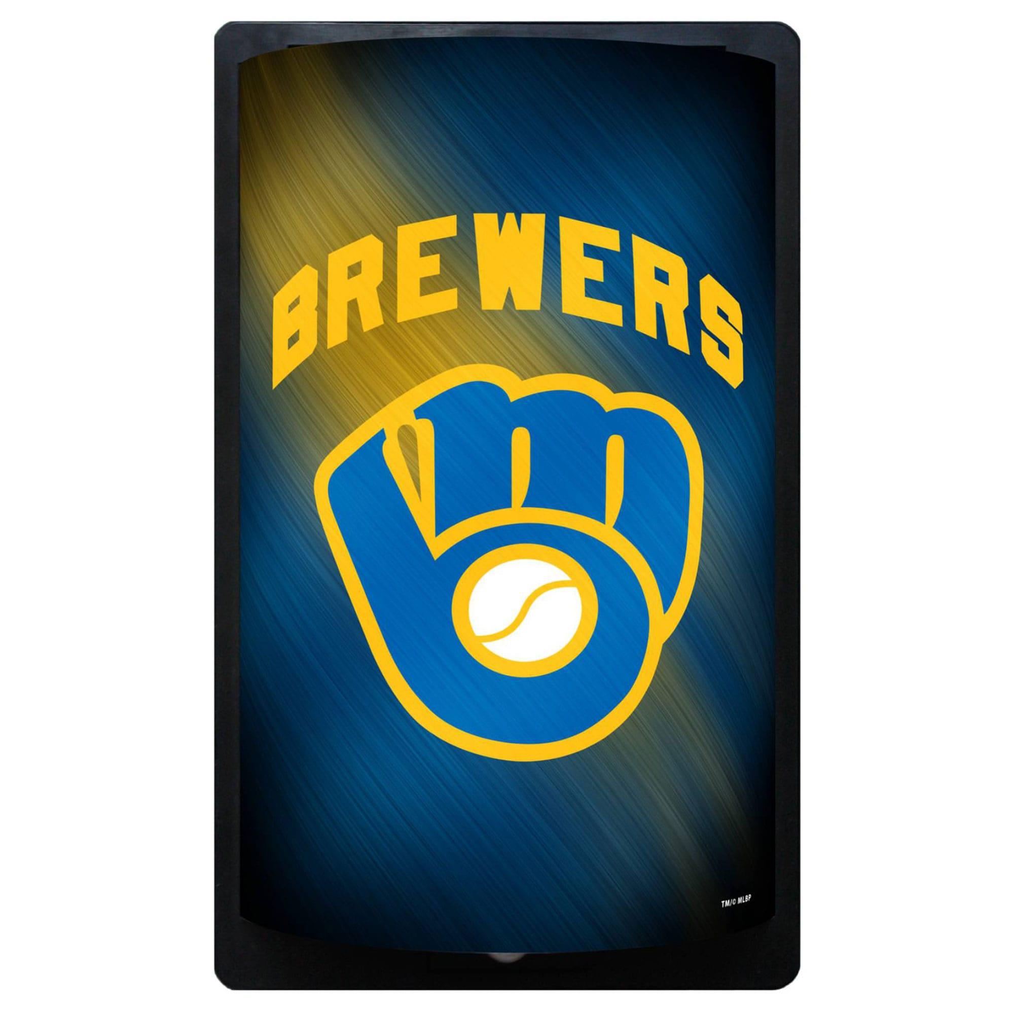 Milwaukee Brewers 12.5'' x 7.5'' MotiGlow Sign