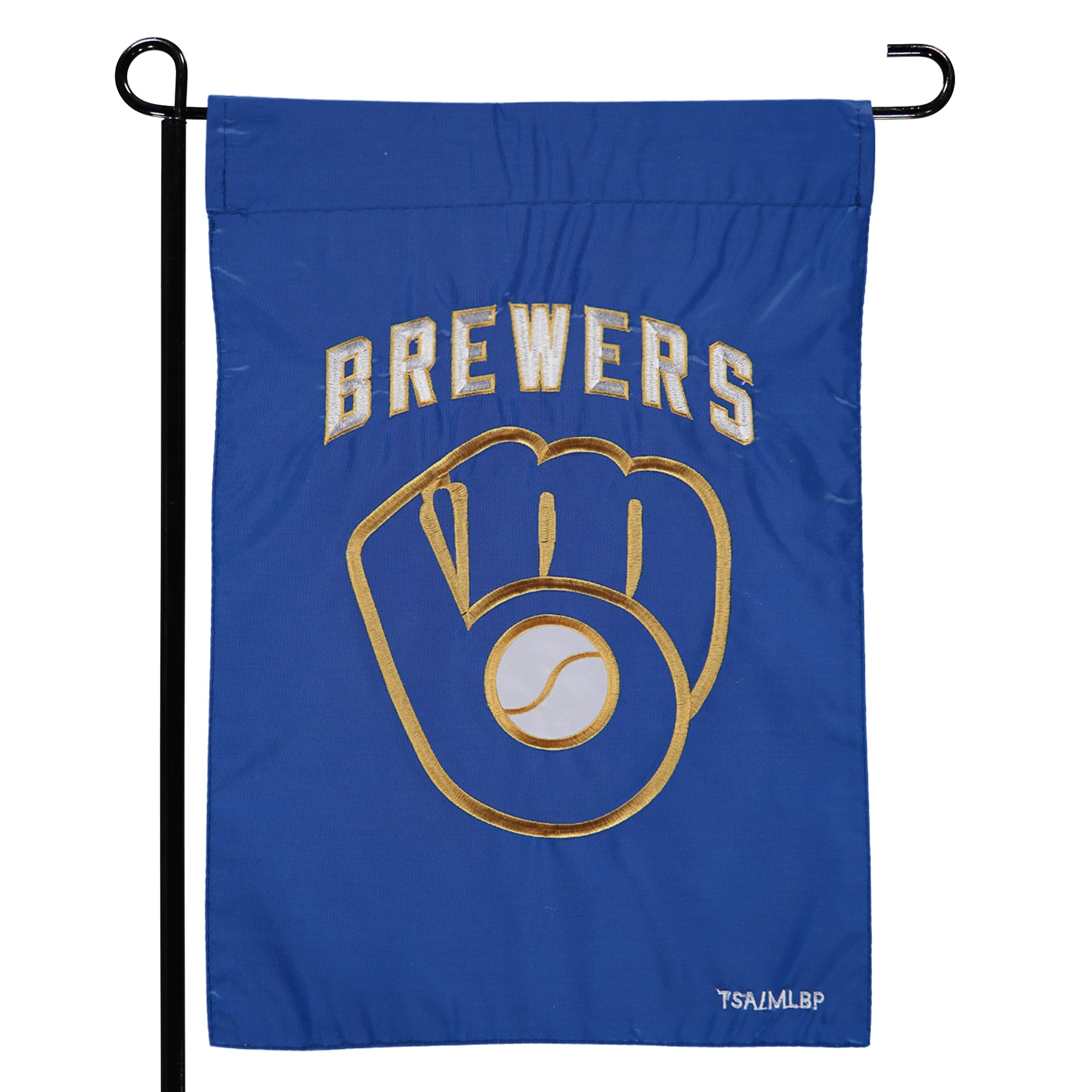 """Milwaukee Brewers 12.5"""" x 19"""" Applique Double-Sided Garden Flag"""