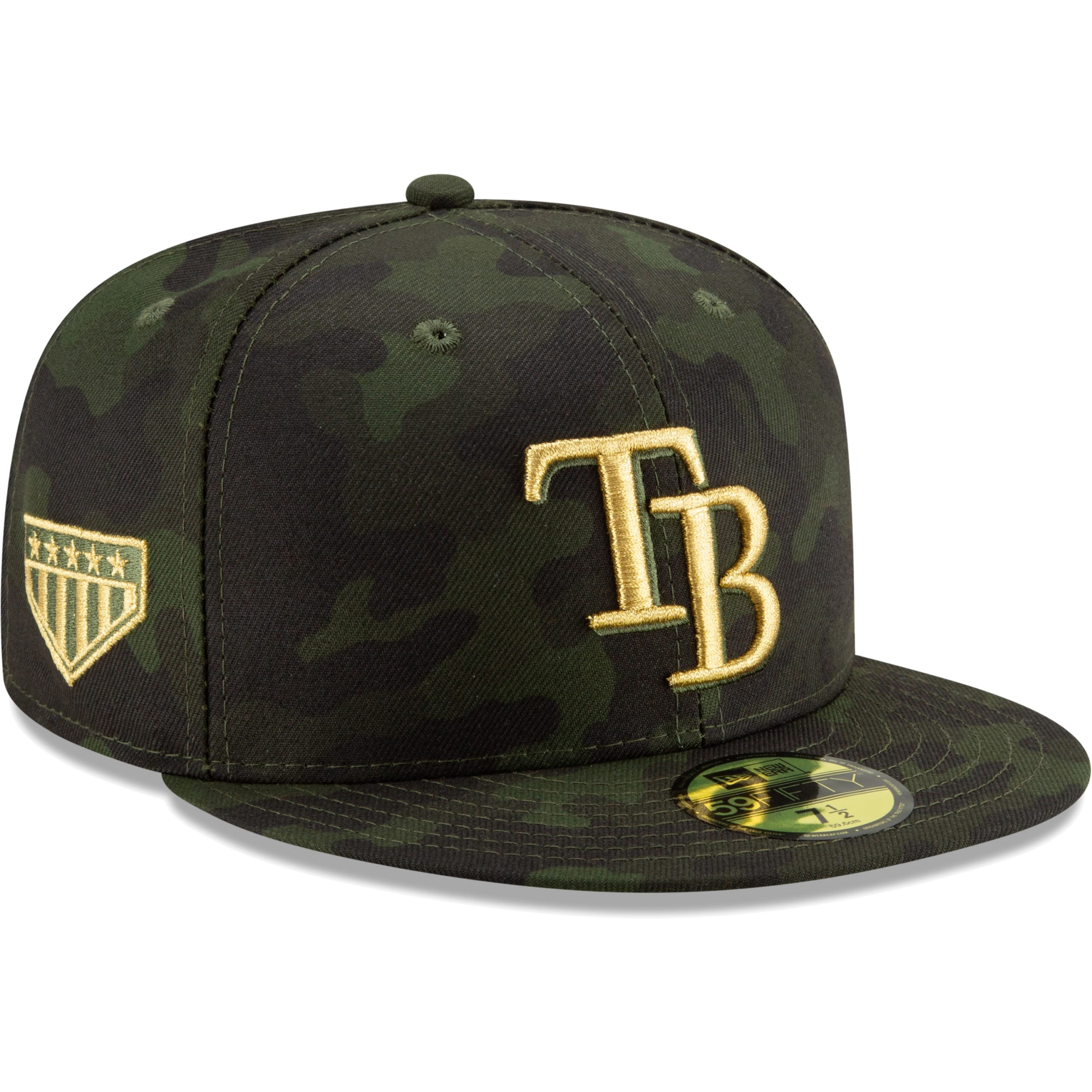 Tampa Bay Rays New Era MLB Armed Forces Day On-Field 59FIFTY Fitted Hat - Camo