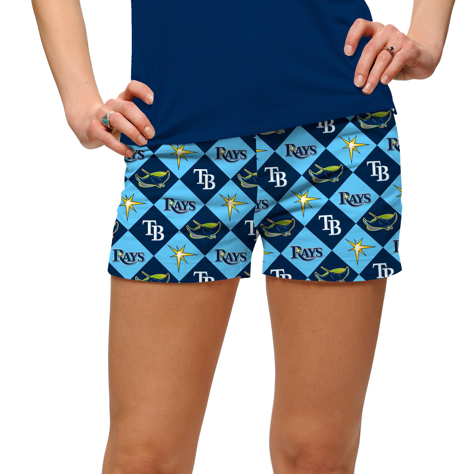 Tampa Bay Rays Loudmouth Women's Mini Shorts - Navy