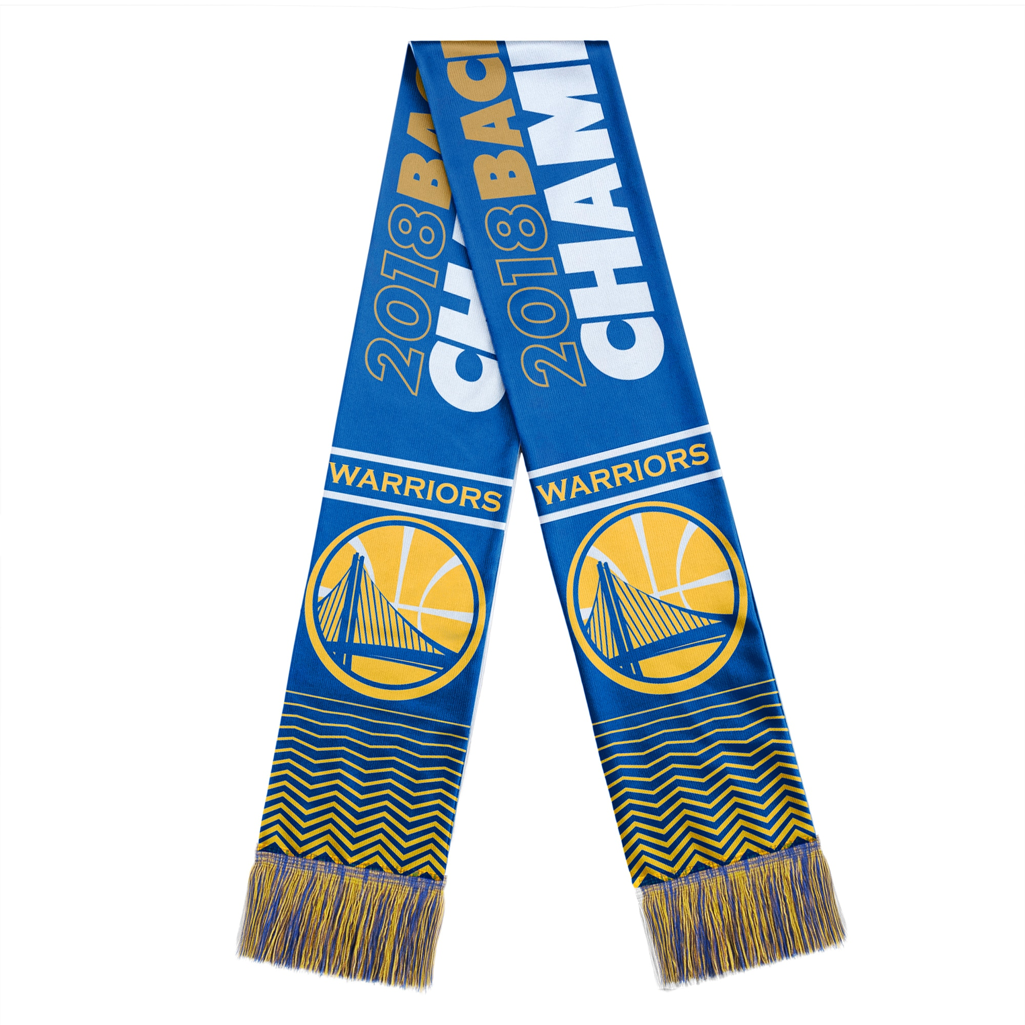 Golden State Warriors 2018 NBA Finals Champions Acrylic Scarf - Blue