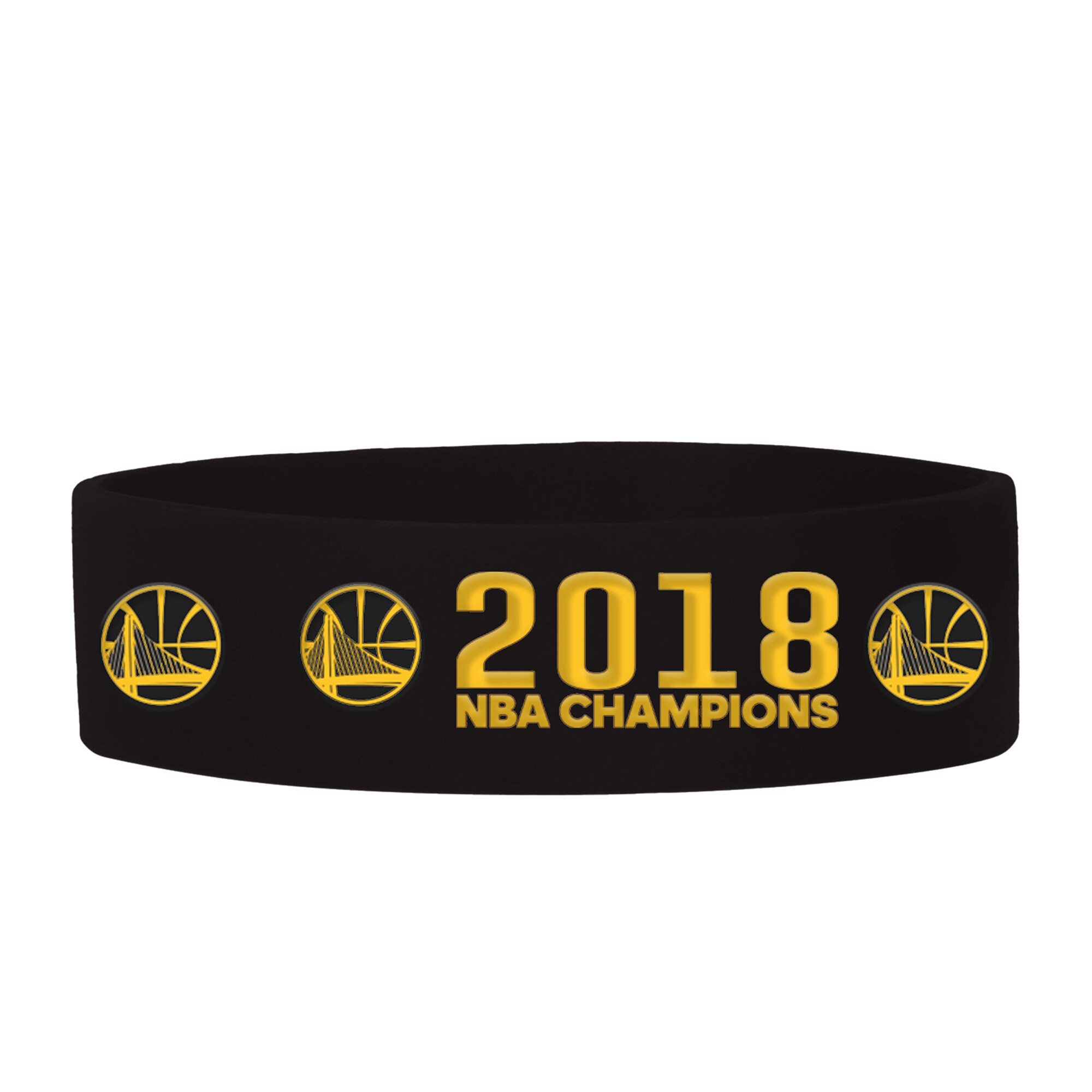 Golden State Warriors 2018 NBA Finals Champions Bulk Bandz - Black
