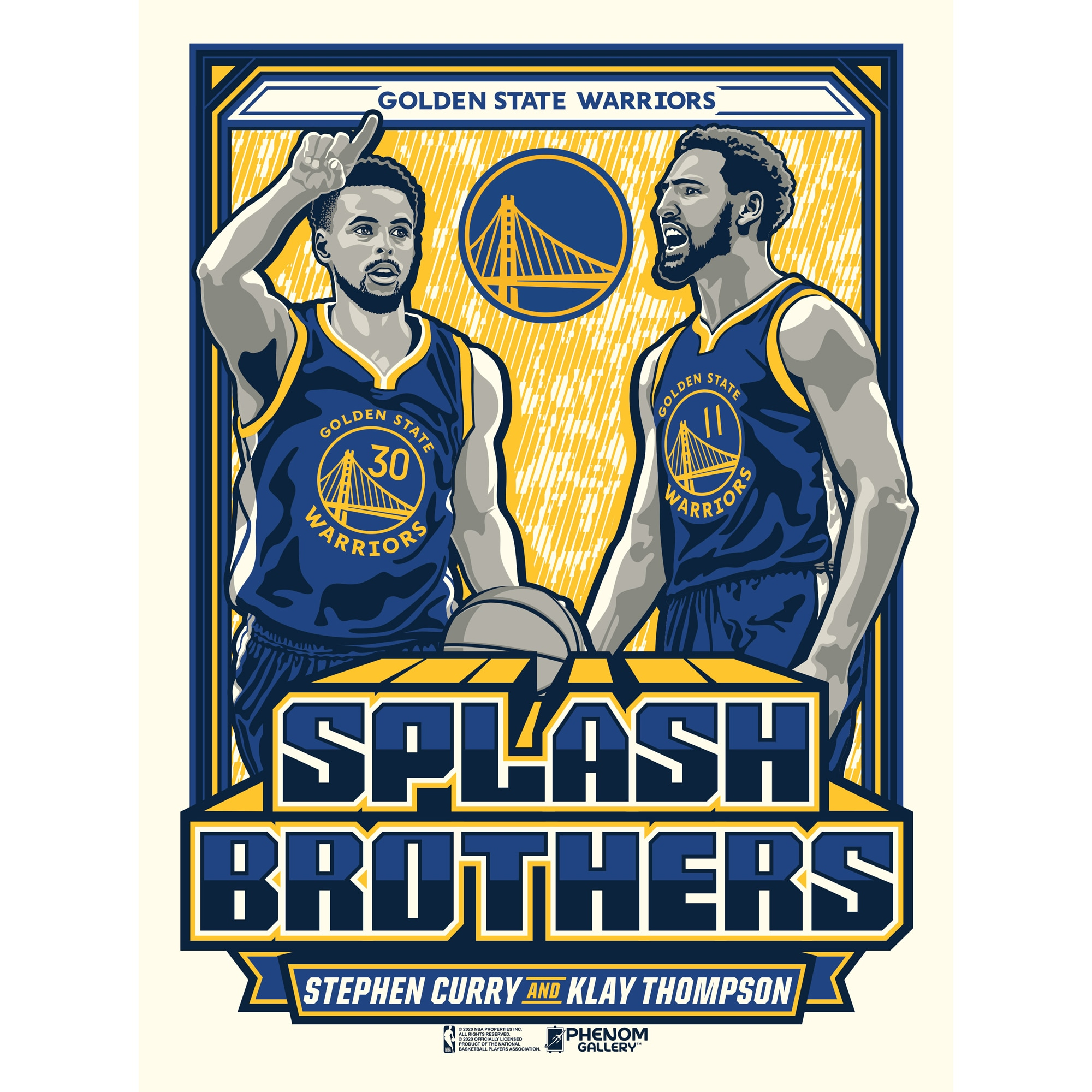 Stephen Curry & Klay Thompson Golden State Warriors 18'' x 24'' Splash Brothers Serigraph Print