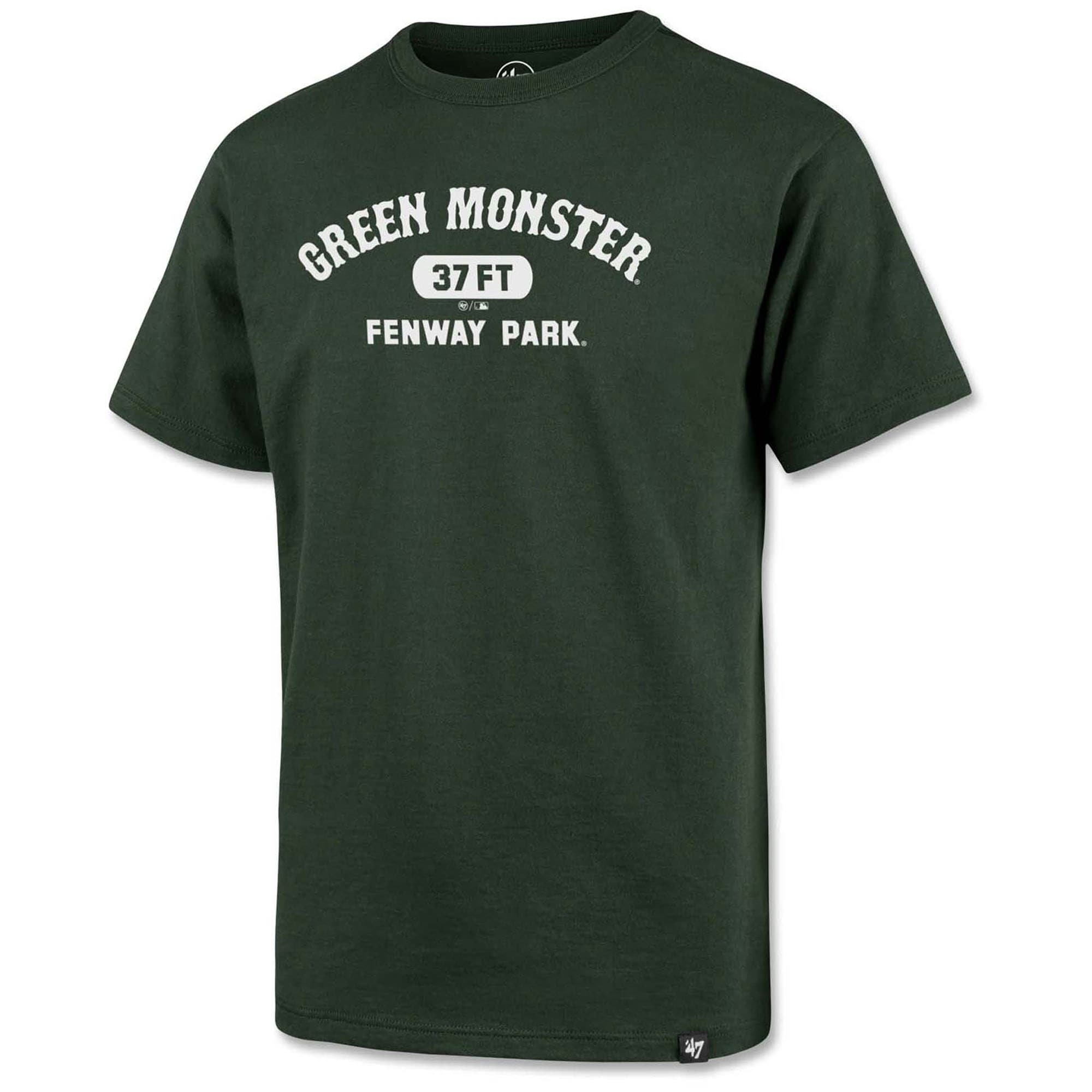 Boston Red Sox '47 Youth Fenway Park Green Monster Poly T-Shirt - Hunter Green