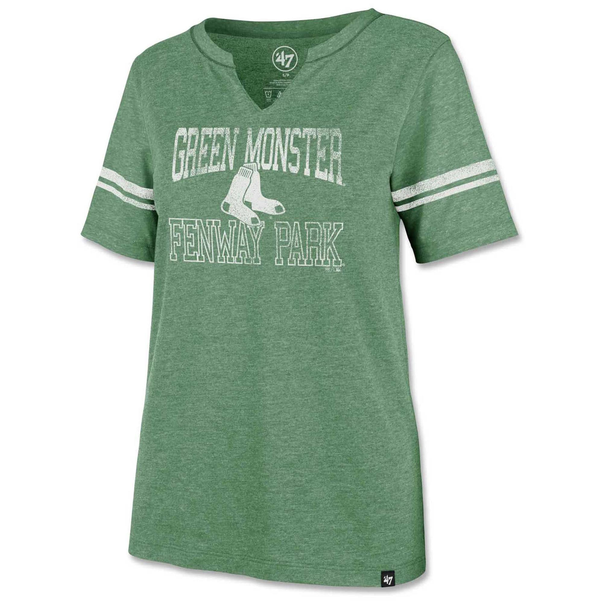 Boston Red Sox '47 Women's Green Monster Homefield Match Stripe T-Shirt - Green