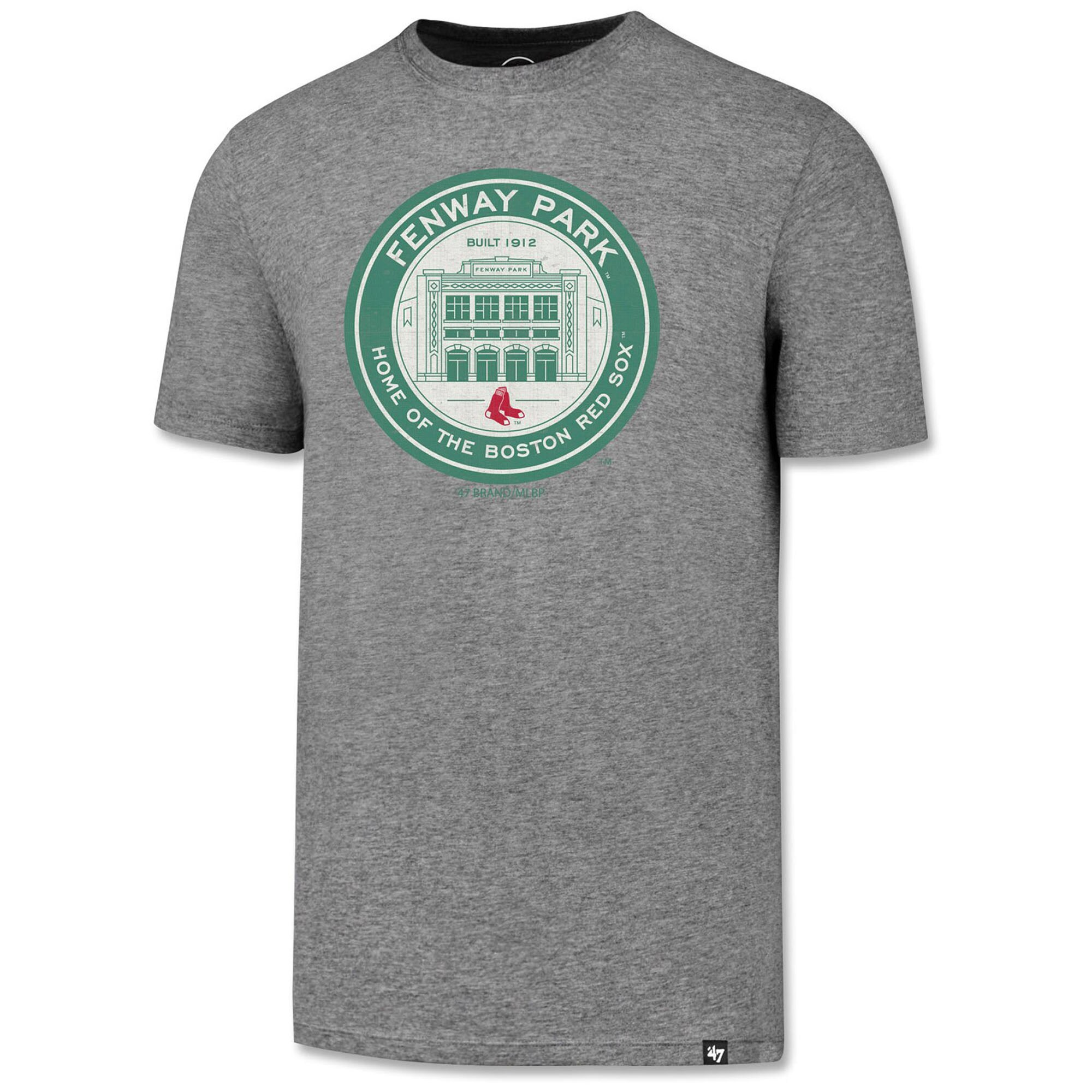 Boston Red Sox '47 Fenway Park Coin Logo Slate Grey T-Shirt - Heather Gray