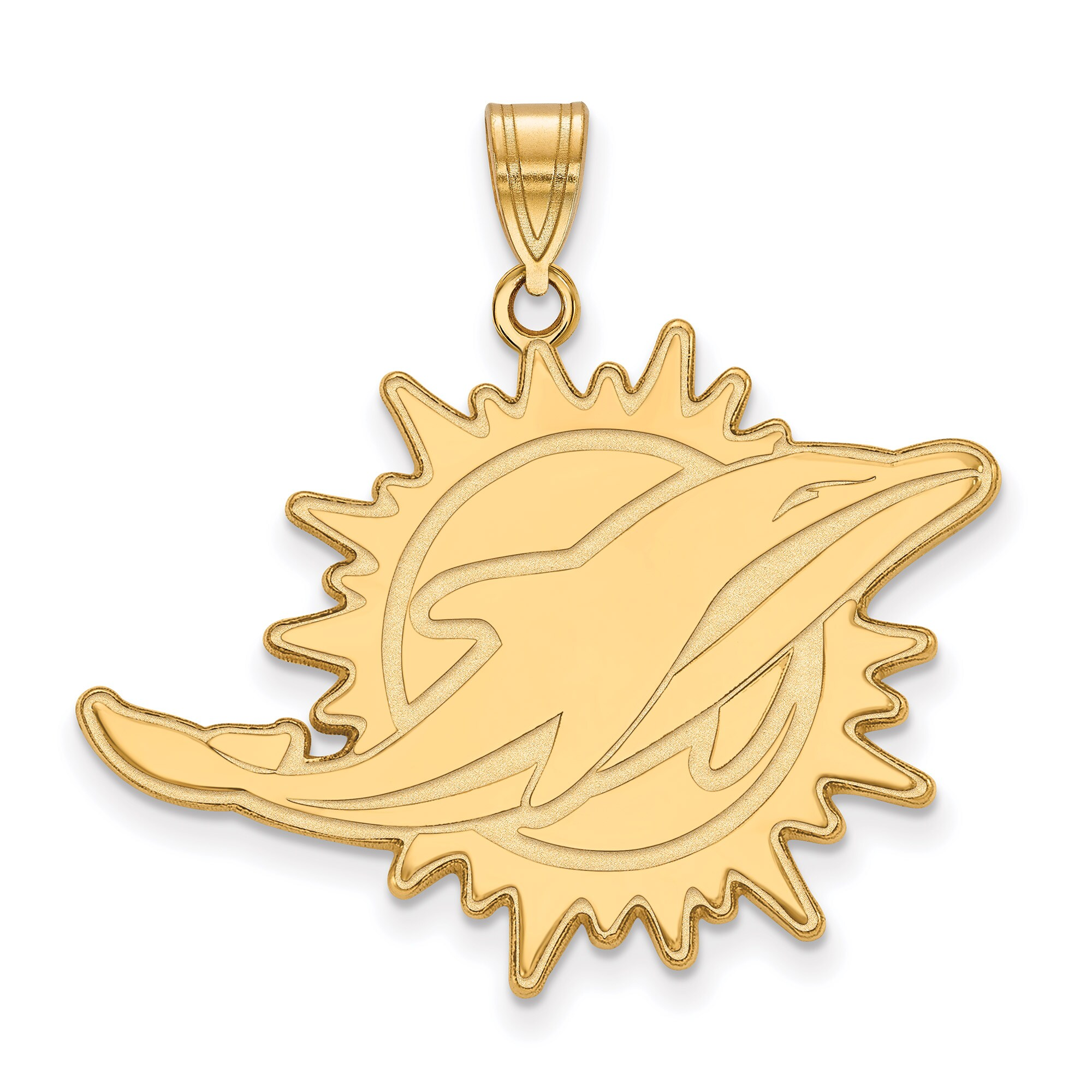 Miami Dolphins Gold-Plated Extra Large Logo Pendant