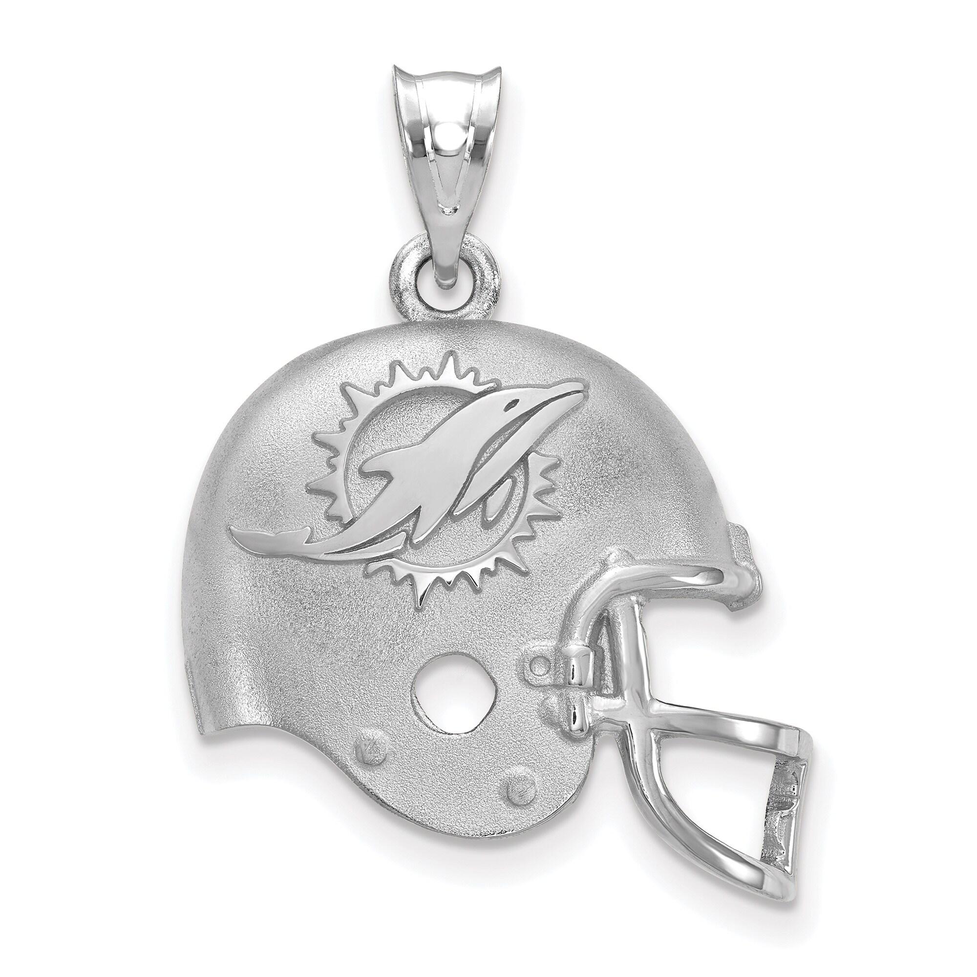 Miami Dolphins Sterling Silver Football Helmet Pendant