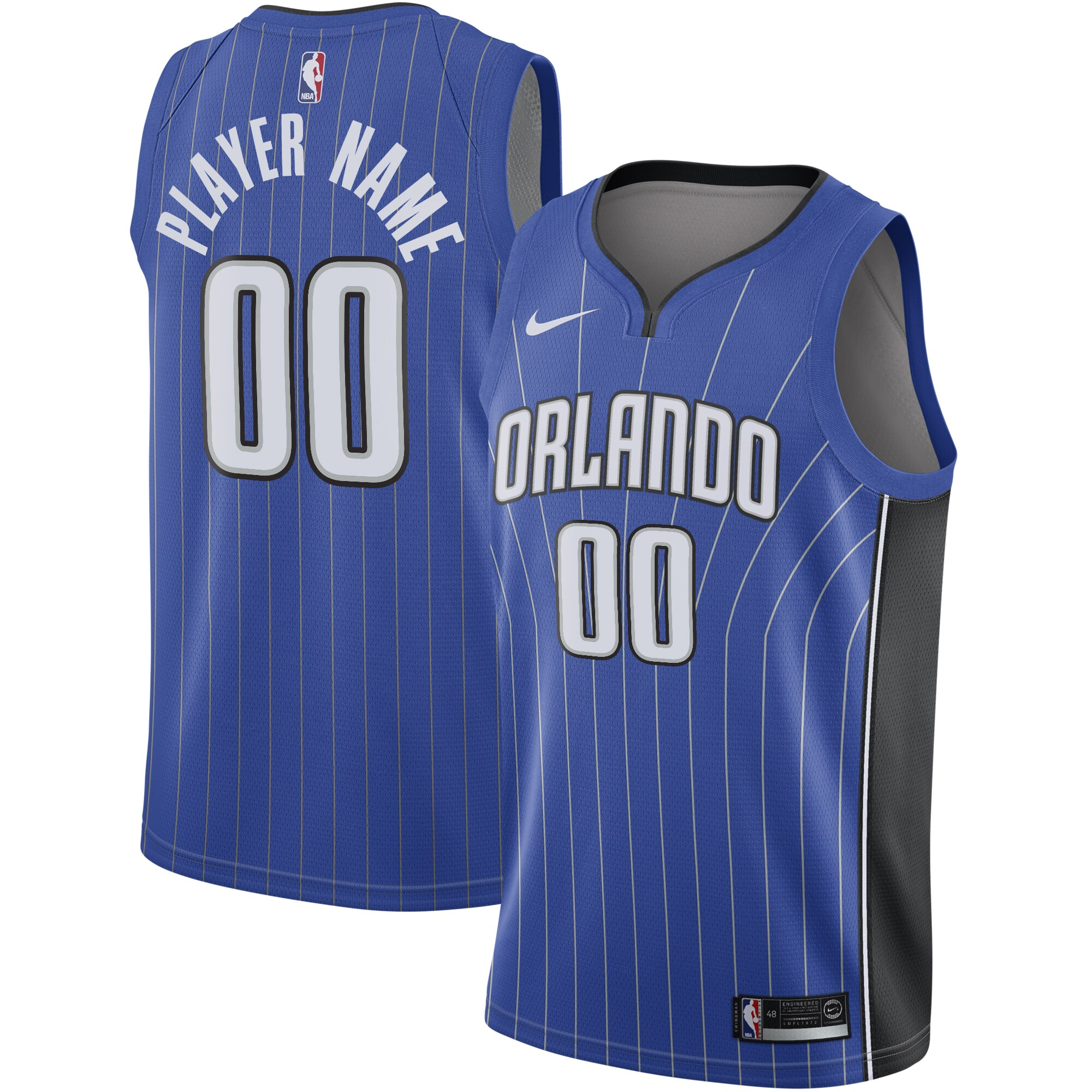 Orlando Magic Nike Swingman Custom Jersey Royal - Icon Edition