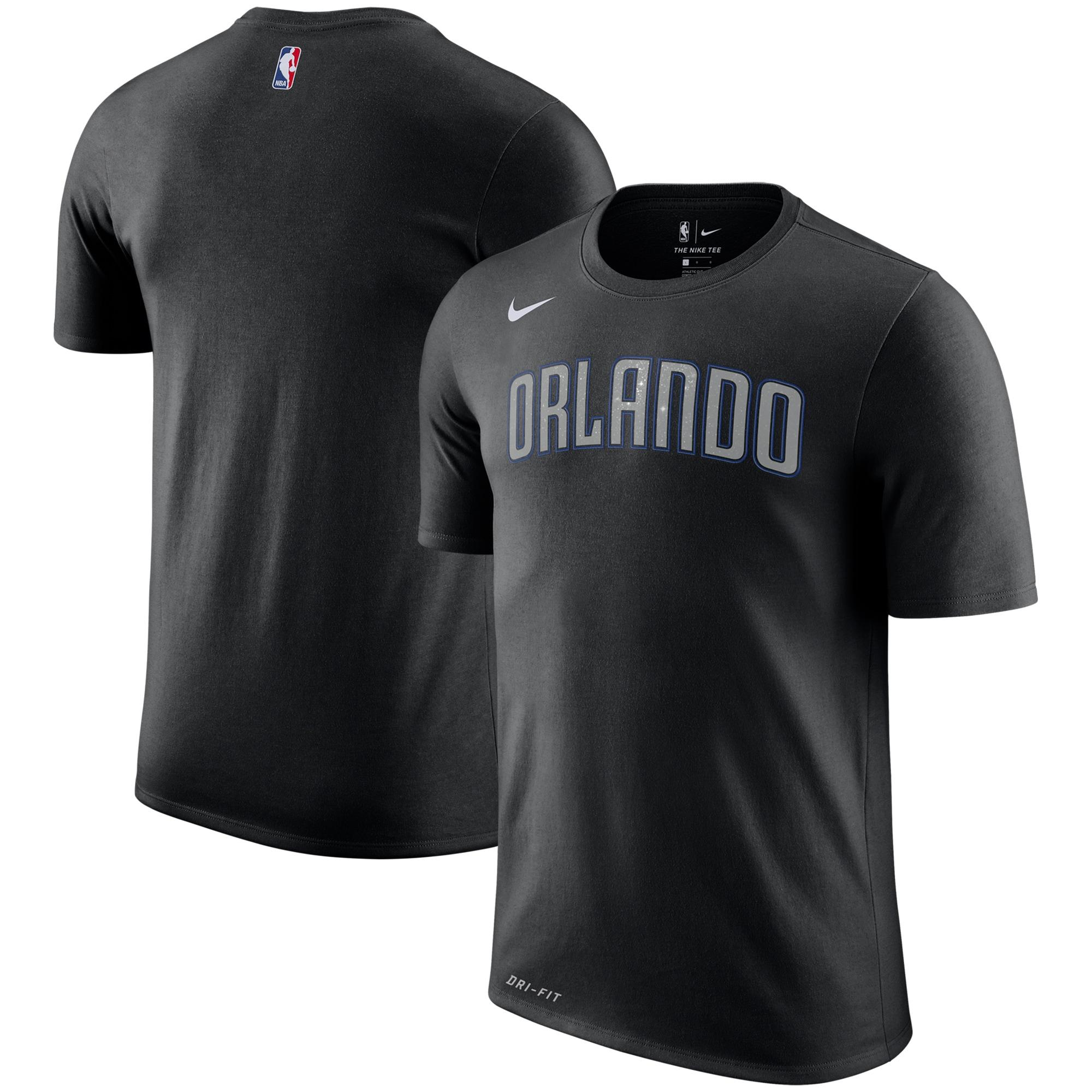 Orlando Magic Nike City Edition Performance Cotton Essential T-Shirt - Black