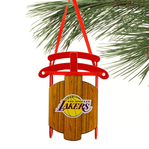 Los Angeles Lakers Sled Ornament