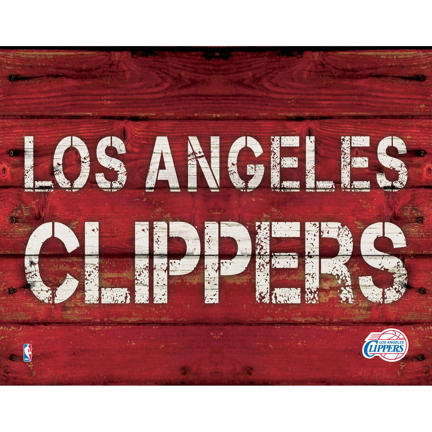 "LA Clippers 11"" x 14"" Rustic Option Wall Art"