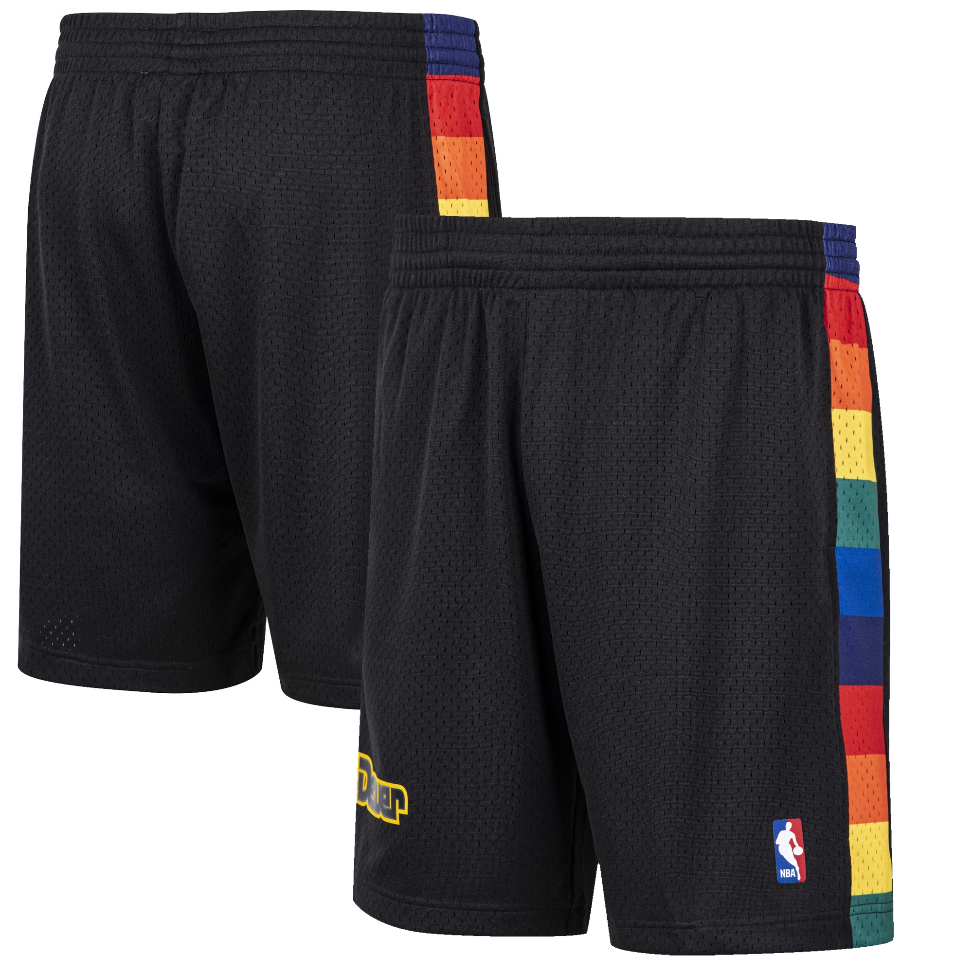 Denver Nuggets Mitchell & Ness Hardwood Classic Reload Swingman Shorts - Black