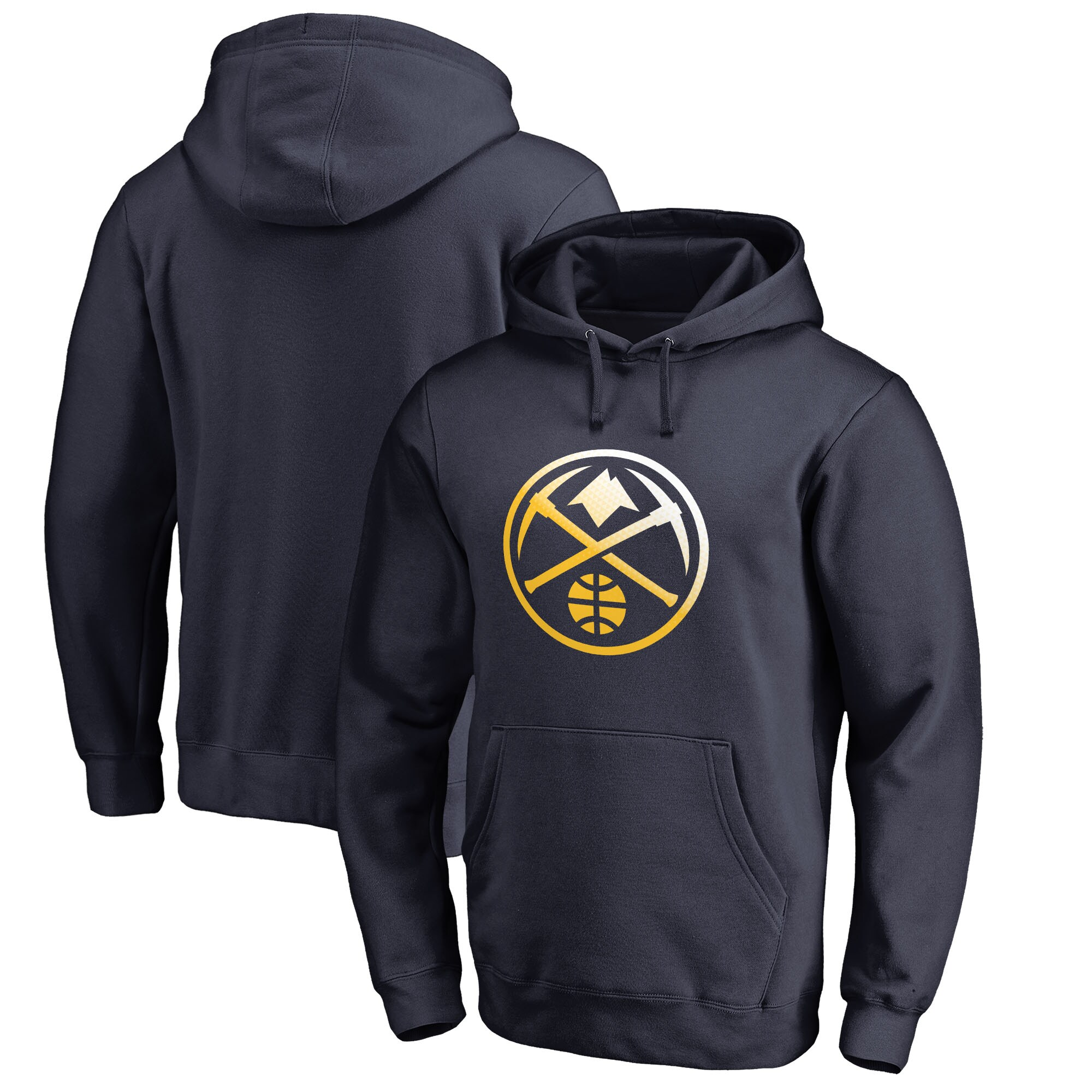 Denver Nuggets Fanatics Branded Big & Tall Gradient Logo Pullover Hoodie - Navy