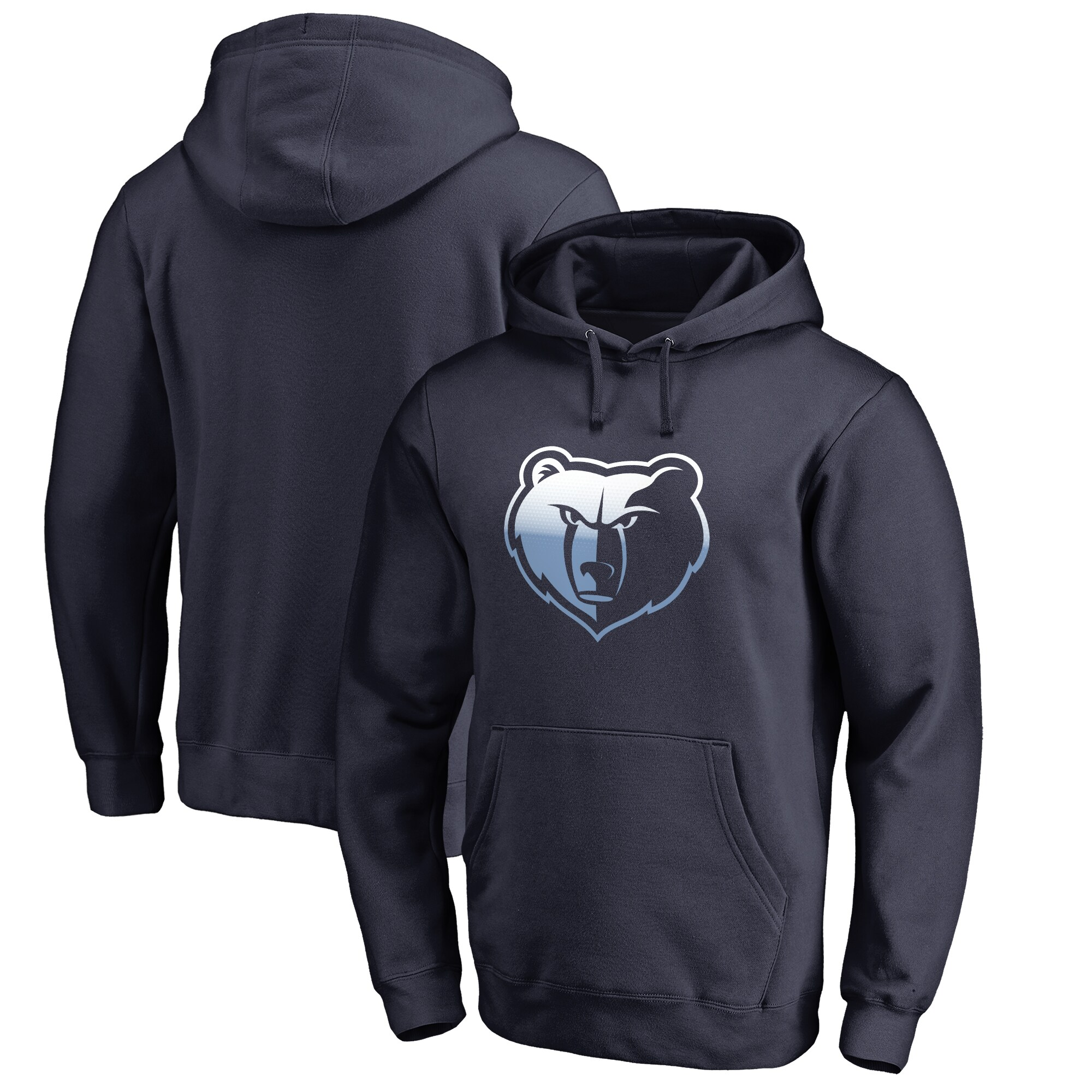 Memphis Grizzlies Fanatics Branded Big & Tall Gradient Logo Pullover Hoodie - Navy