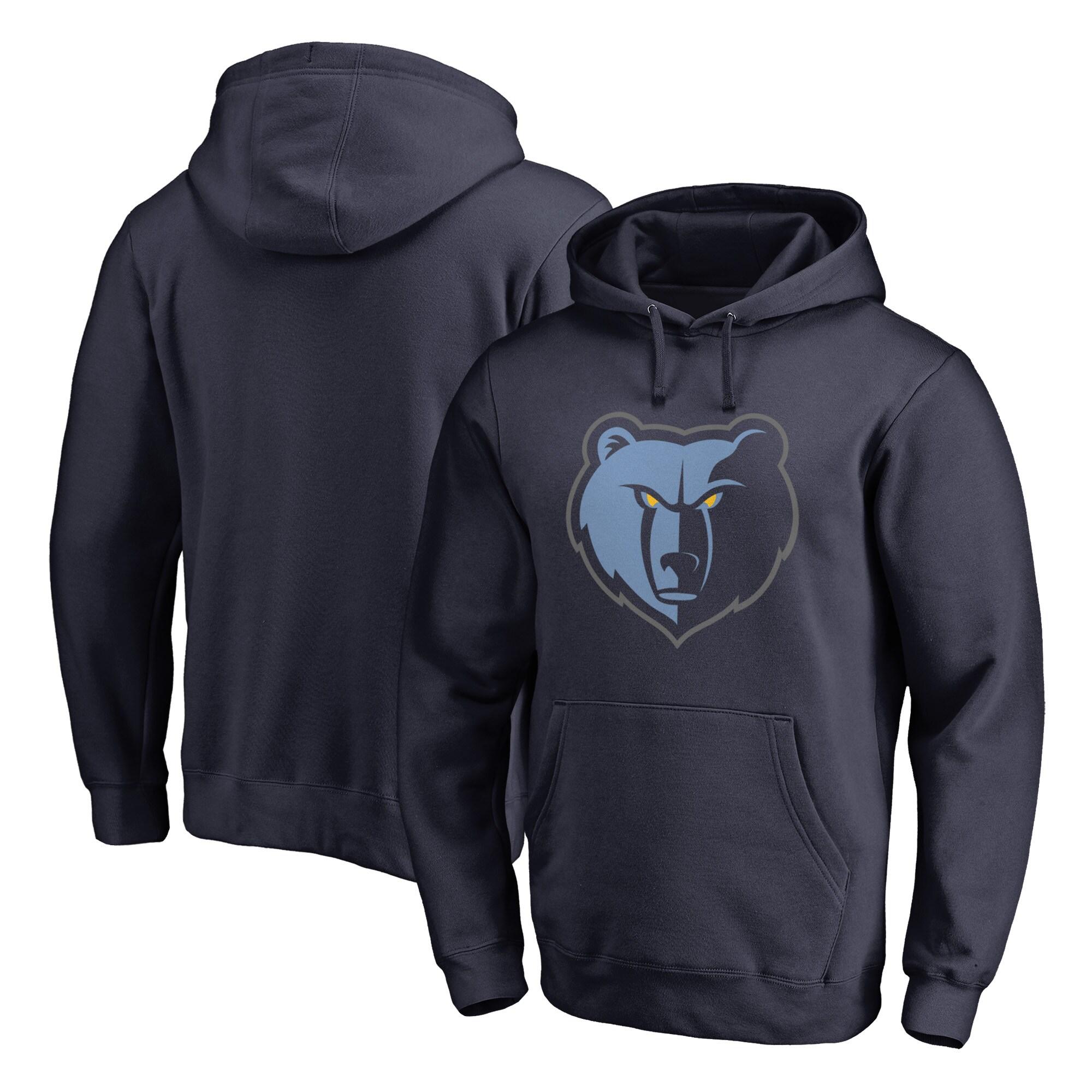 Memphis Grizzlies Fanatics Branded Big & Tall Team Primary Logo Pullover Hoodie - Navy