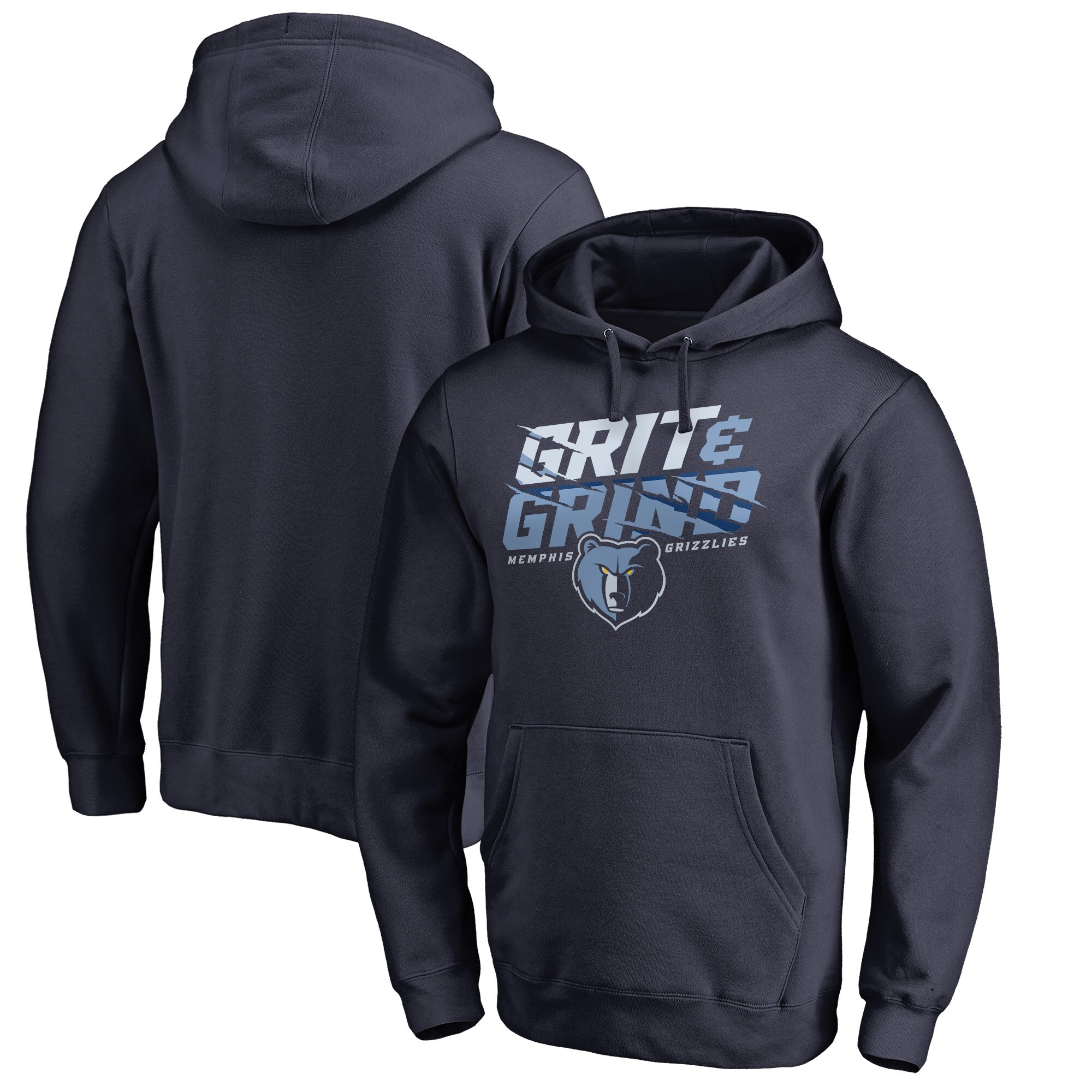 Memphis Grizzlies Fanatics Branded Big & Tall Grit and Grind Hometown Collection Pullover Hoodie - Navy