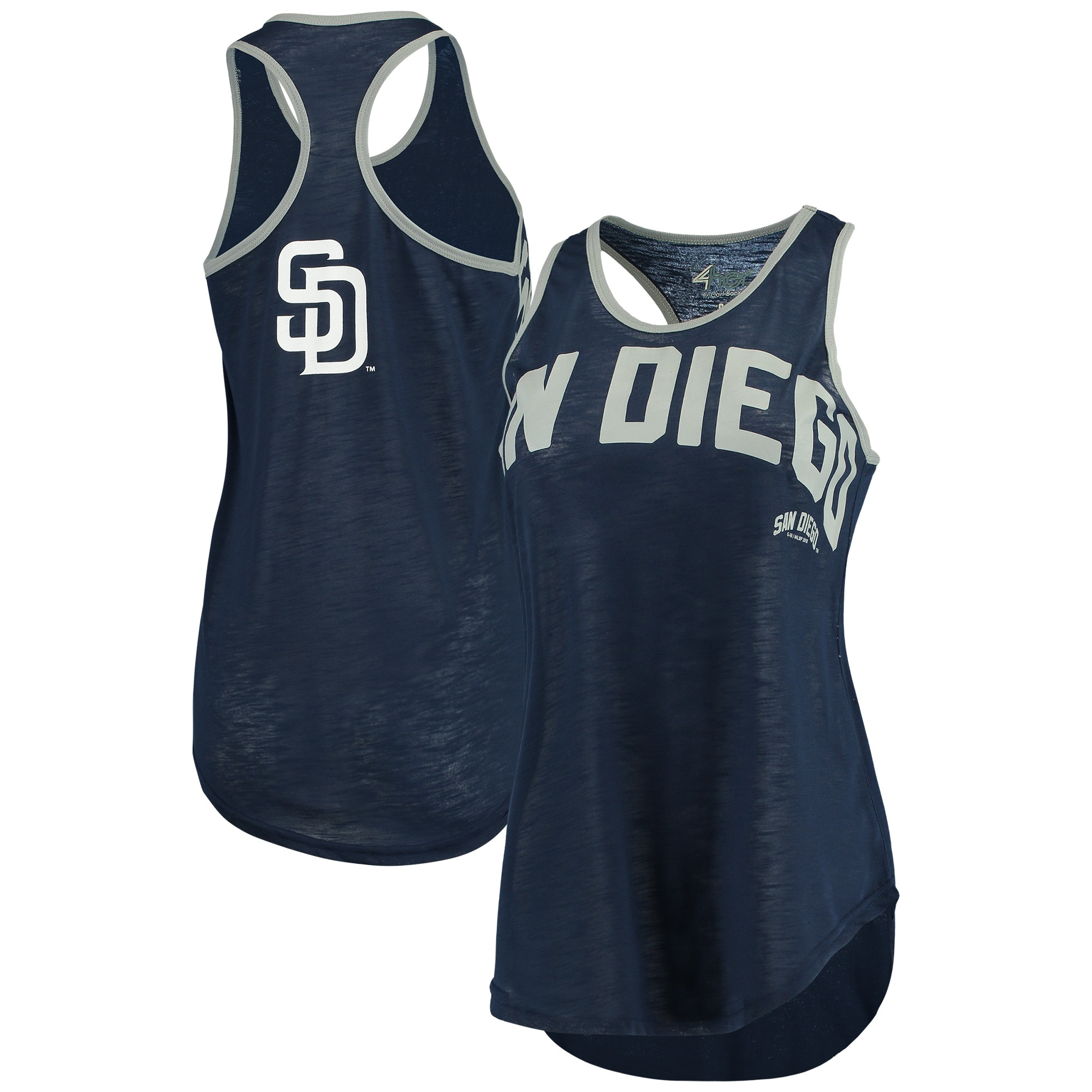 San Diego Padres G-III 4Her by Carl Banks Women's Game Time Tank Top - Navy/Silver