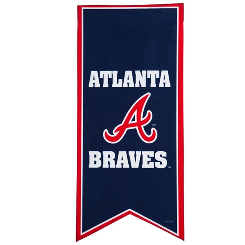 Atlanta Braves 12.5'' x 28'' Flag Banner