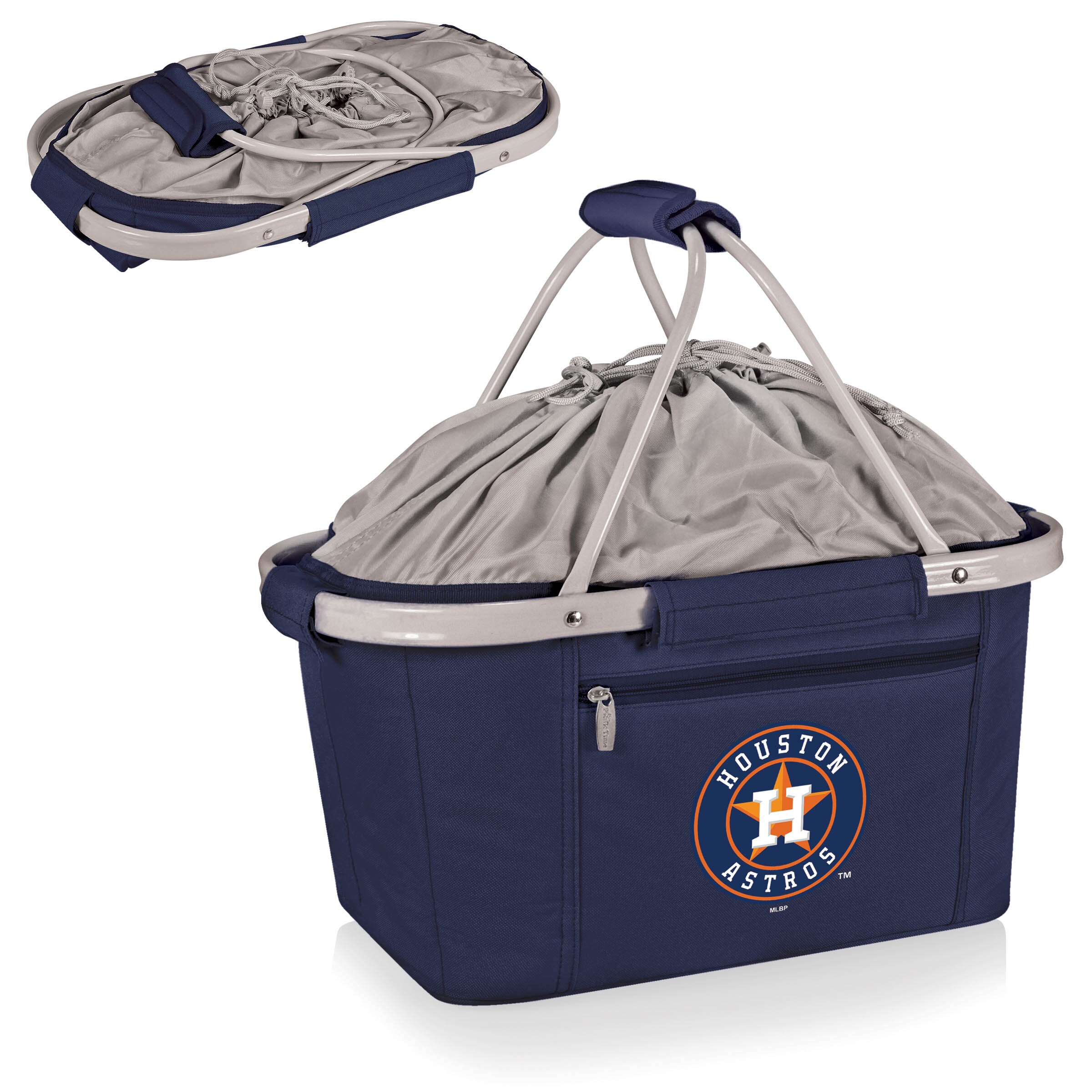 Houston Astros Metro Basket Collapsible Tote - Navy