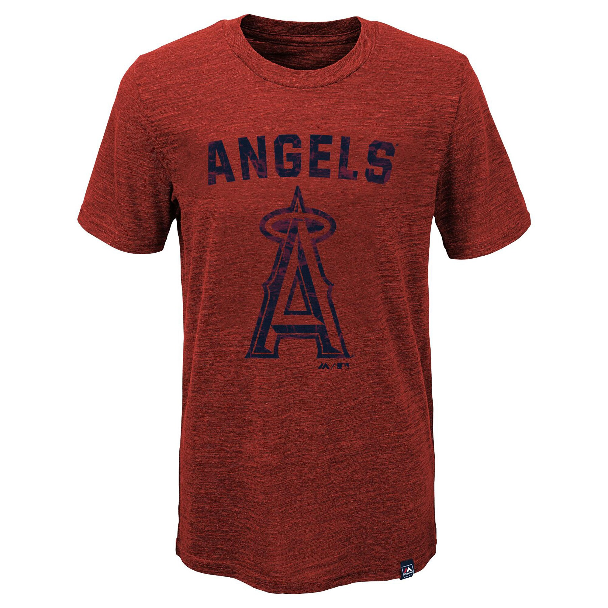 Los Angeles Angels Majestic Youth Hours And Hours Slub Tri-Blend T-Shirt - Heather Red