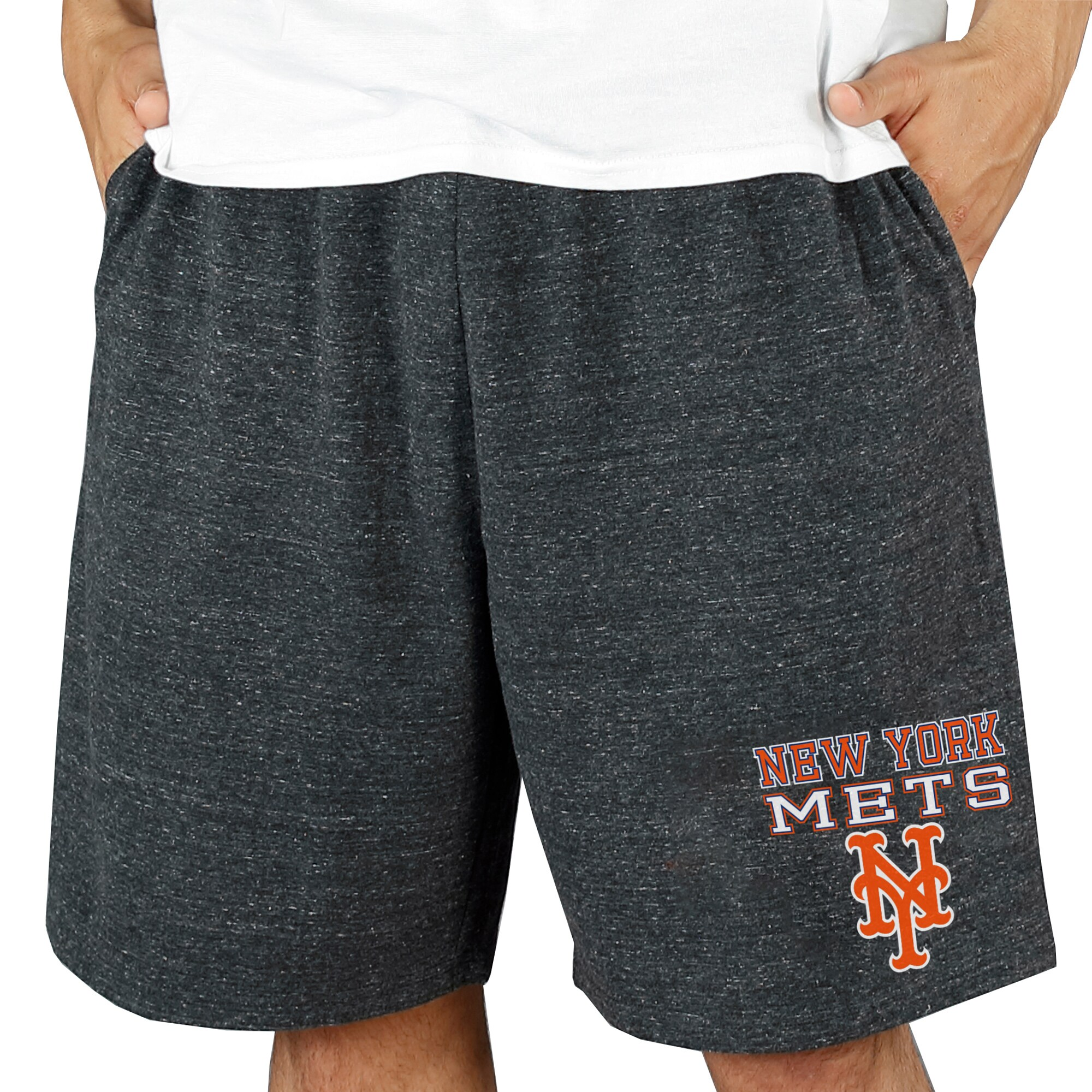 New York Mets Concepts Sport Pitch Knit Jam Shorts - Charcoal