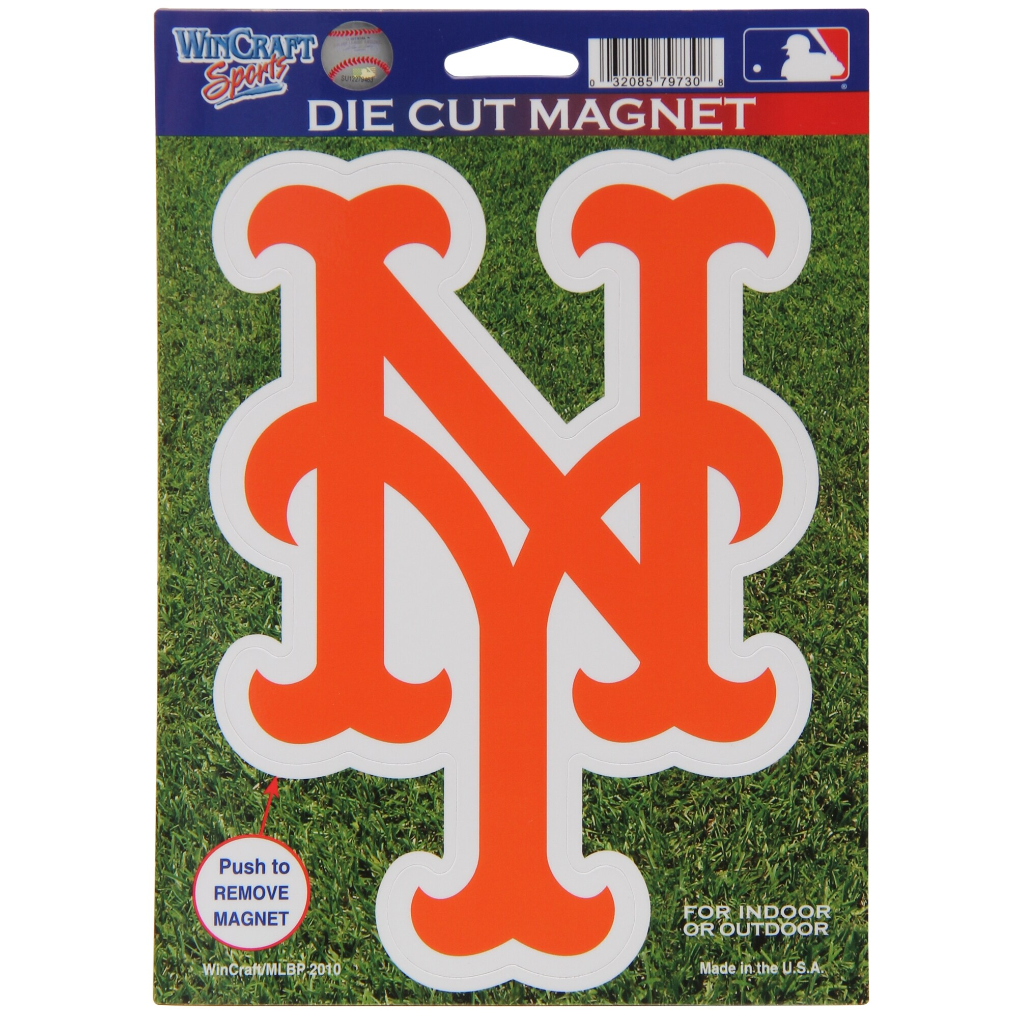 "New York Mets WinCraft 6"" x 9"" Car Magnet"