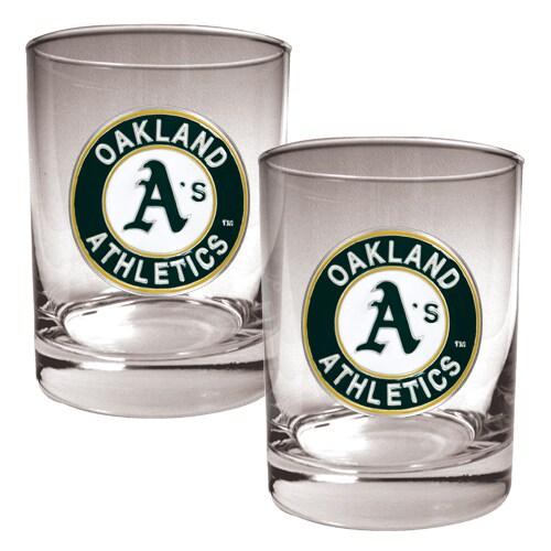 Oakland Athletics 14oz. Rocks Glass Set