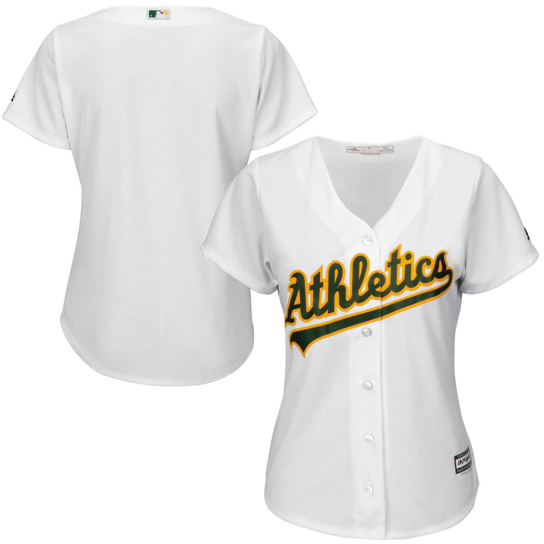 Oakland Athletics Majestic Women's Plus Size Cool Base Team Jersey - White