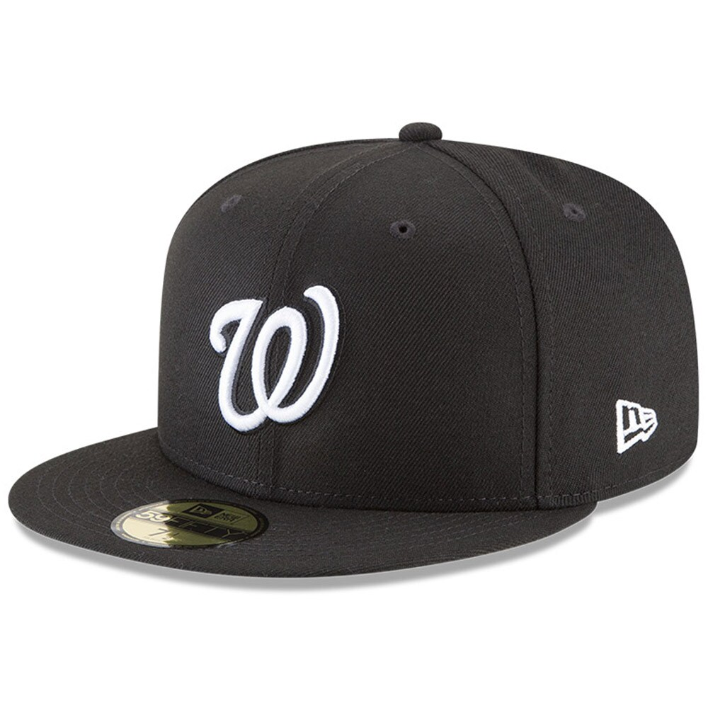 Washington Nationals New Era 59FIFTY Fitted Hat - Black