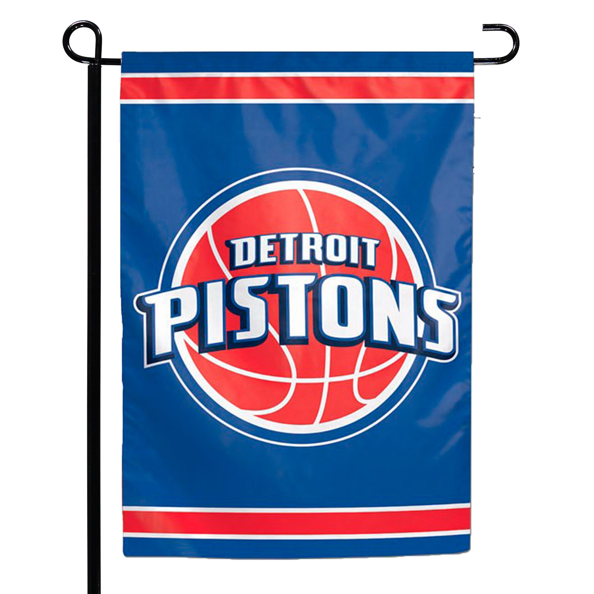 """Detroit Pistons WinCraft 12"""" x 18"""" Double-Sided Garden Flag"""