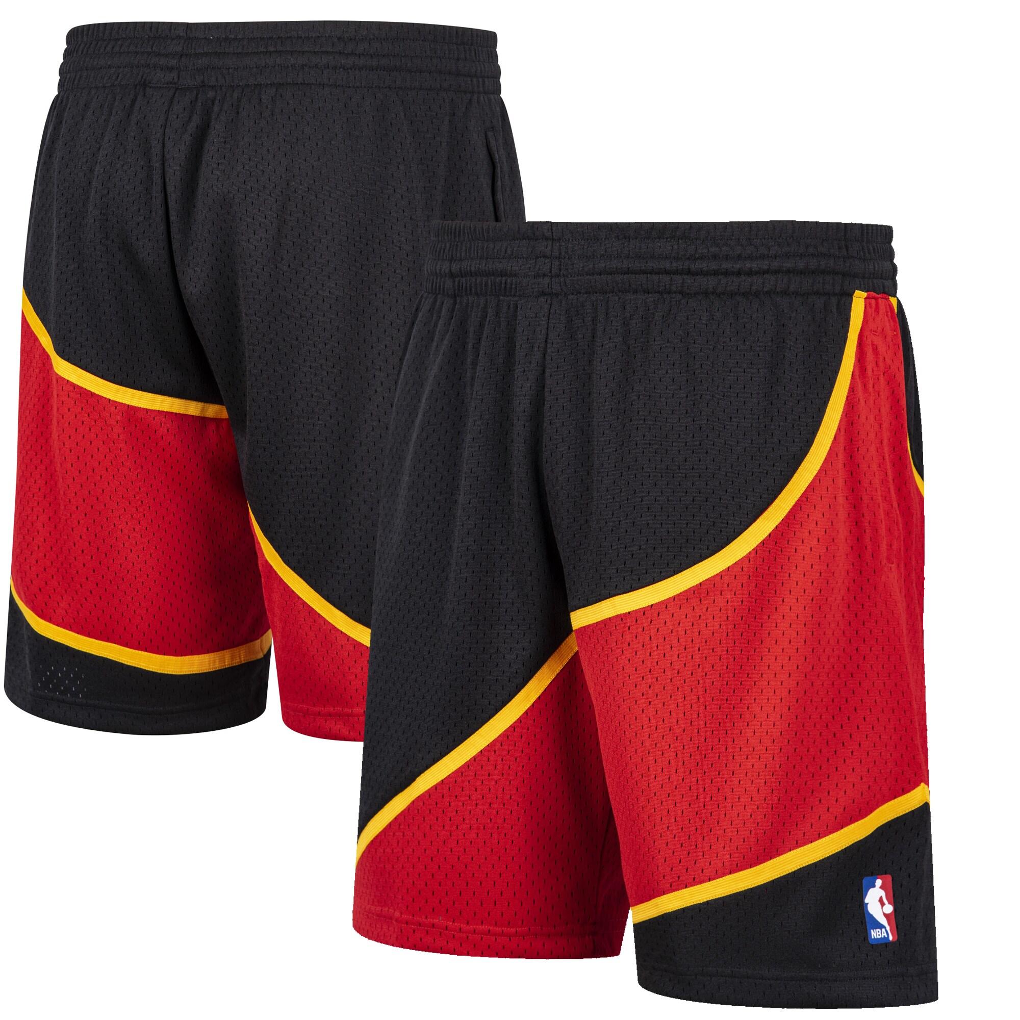 Atlanta Hawks Mitchell & Ness Hardwood Classic Reload Swingman Shorts - Black
