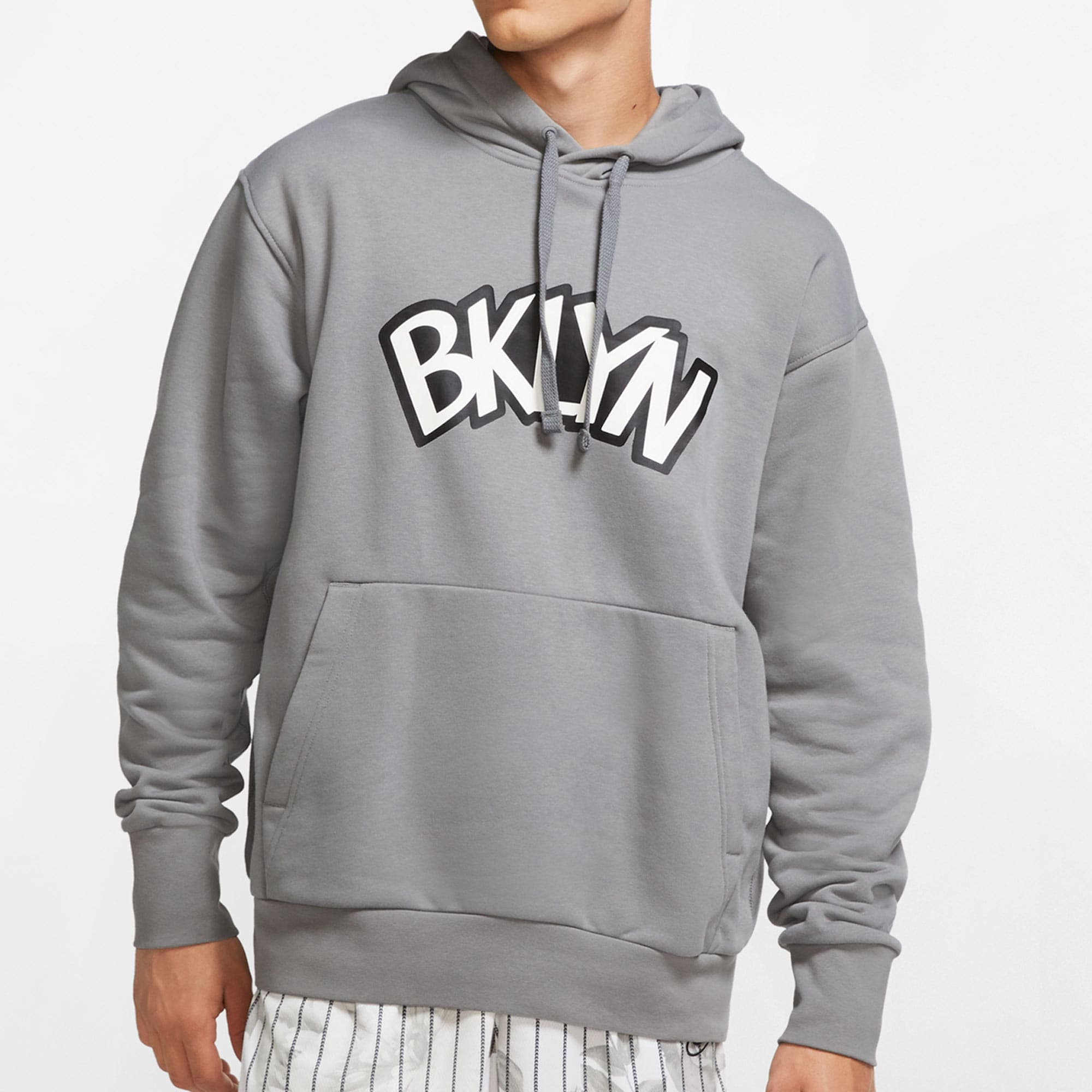 Brooklyn Nets Jordan Brand Statement Edition Pullover Hoodie - Charcoal