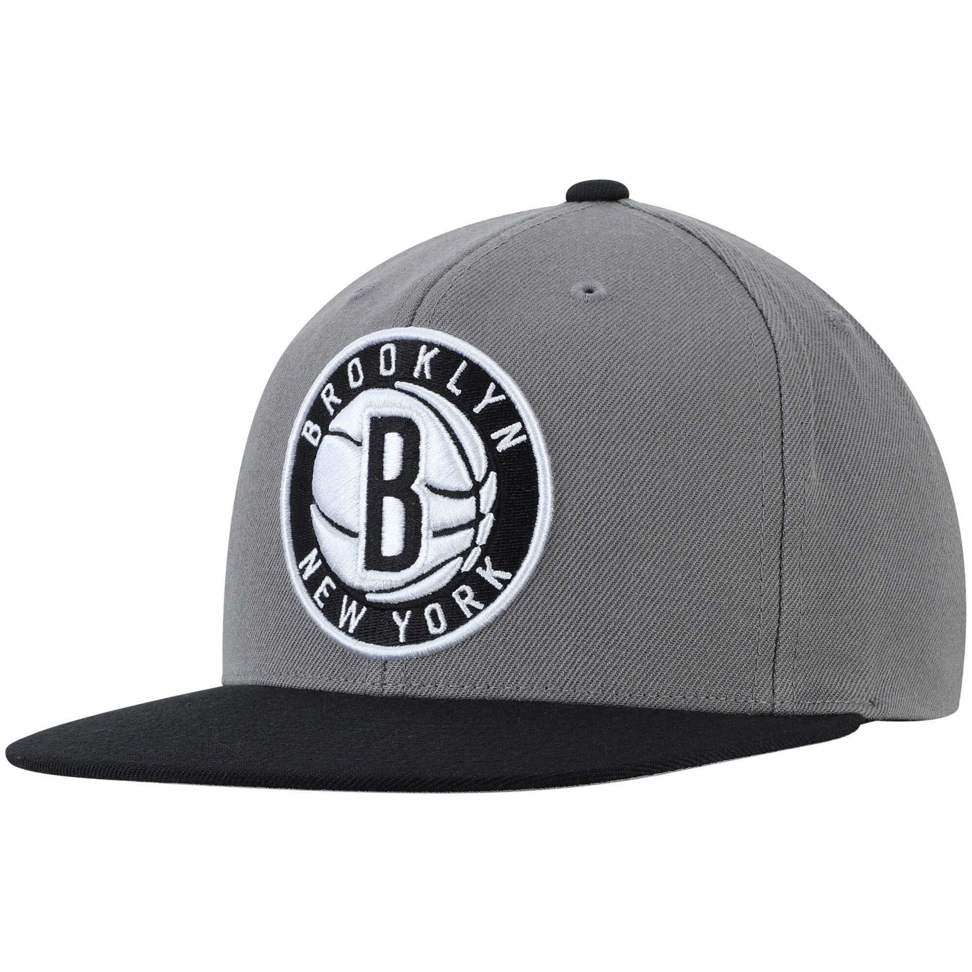 Brooklyn Nets Mitchell & Ness Two-Tone Wool Snapback Hat - Gray/Black