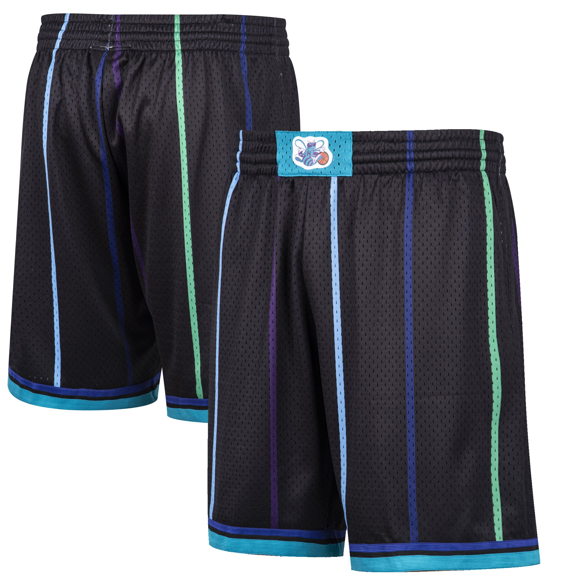 Charlotte Hornets Mitchell & Ness Hardwood Classic Reload Swingman Shorts - Black