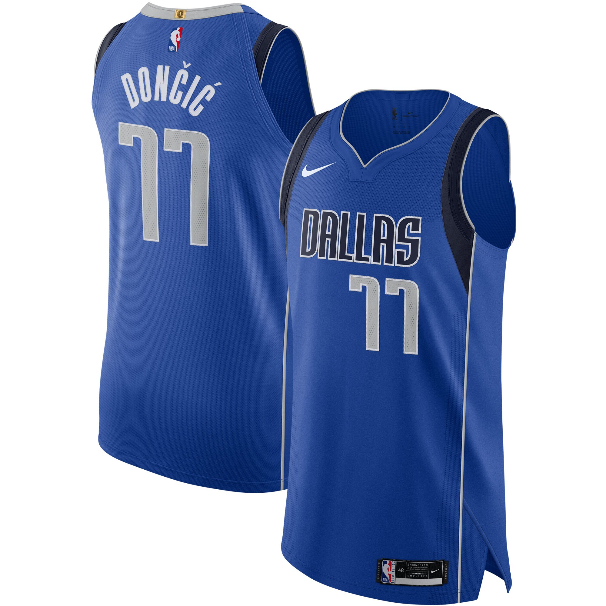 Luka Doncic Dallas Mavericks Nike 2020/21 Authentic Jersey - Icon Edition - Blue