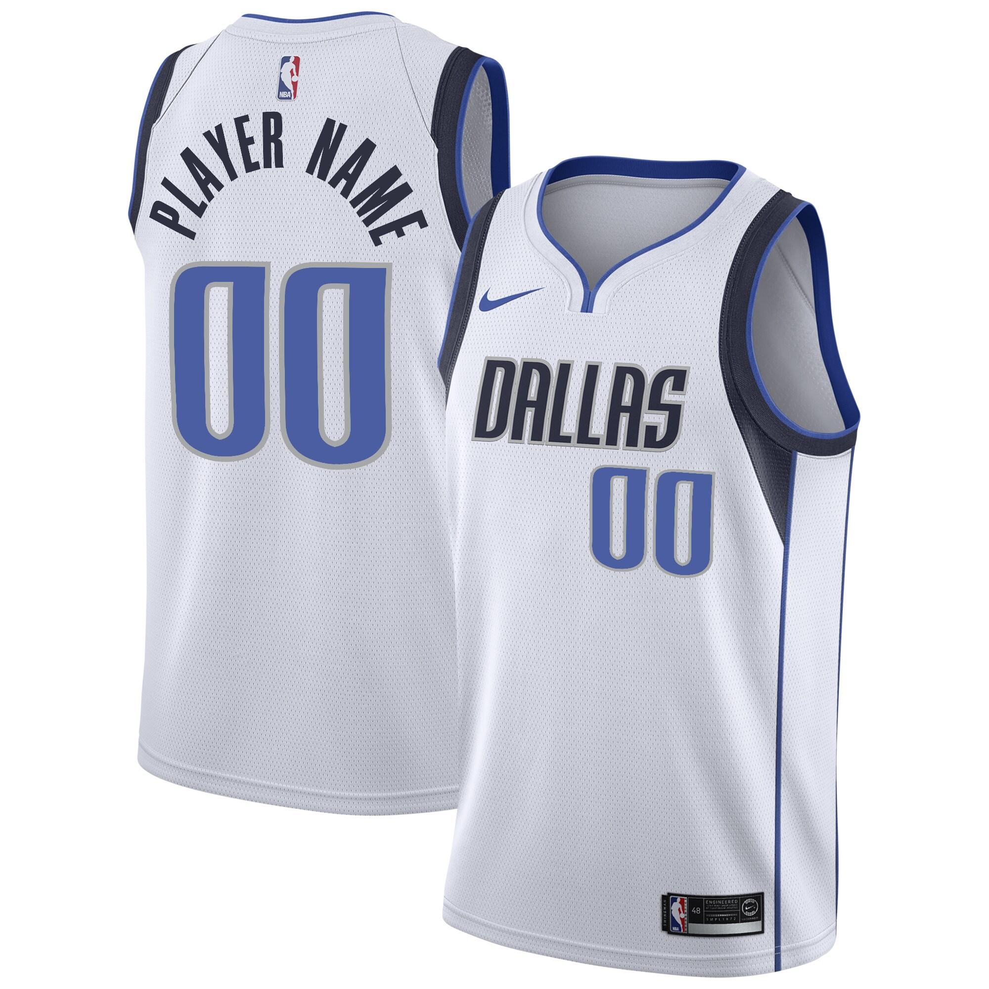 Dallas Mavericks Nike Custom Swingman Jersey White - Association Edition