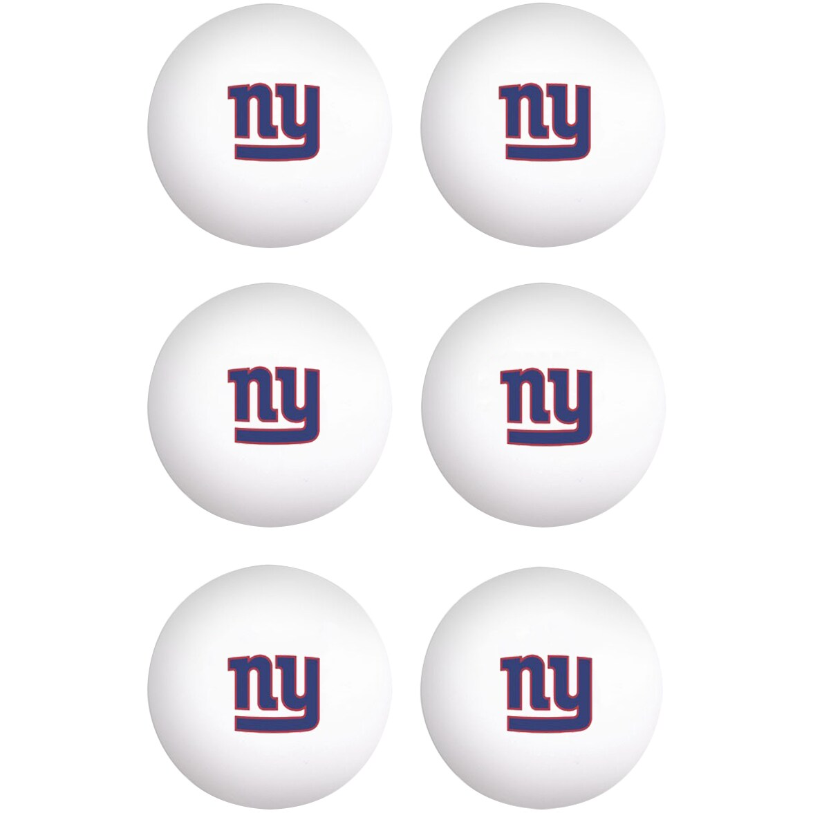 New York Giants WinCraft 6-Pack Table Tennis Balls