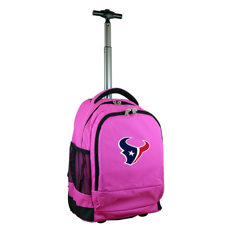 Houston Texans 19'' Premium Wheeled Backpack - Pink