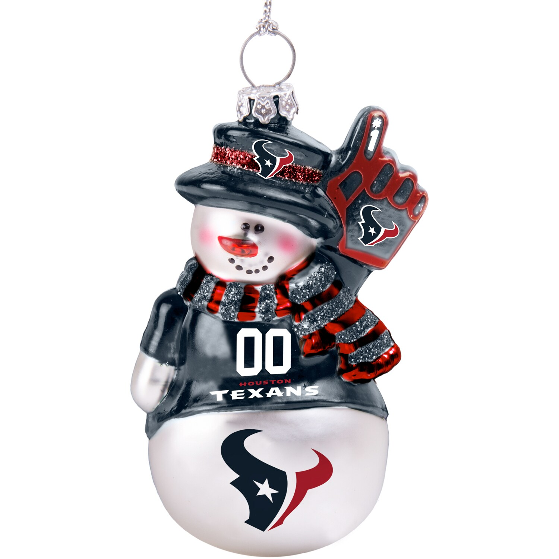 Houston Texans Glitter Snowman Ornament