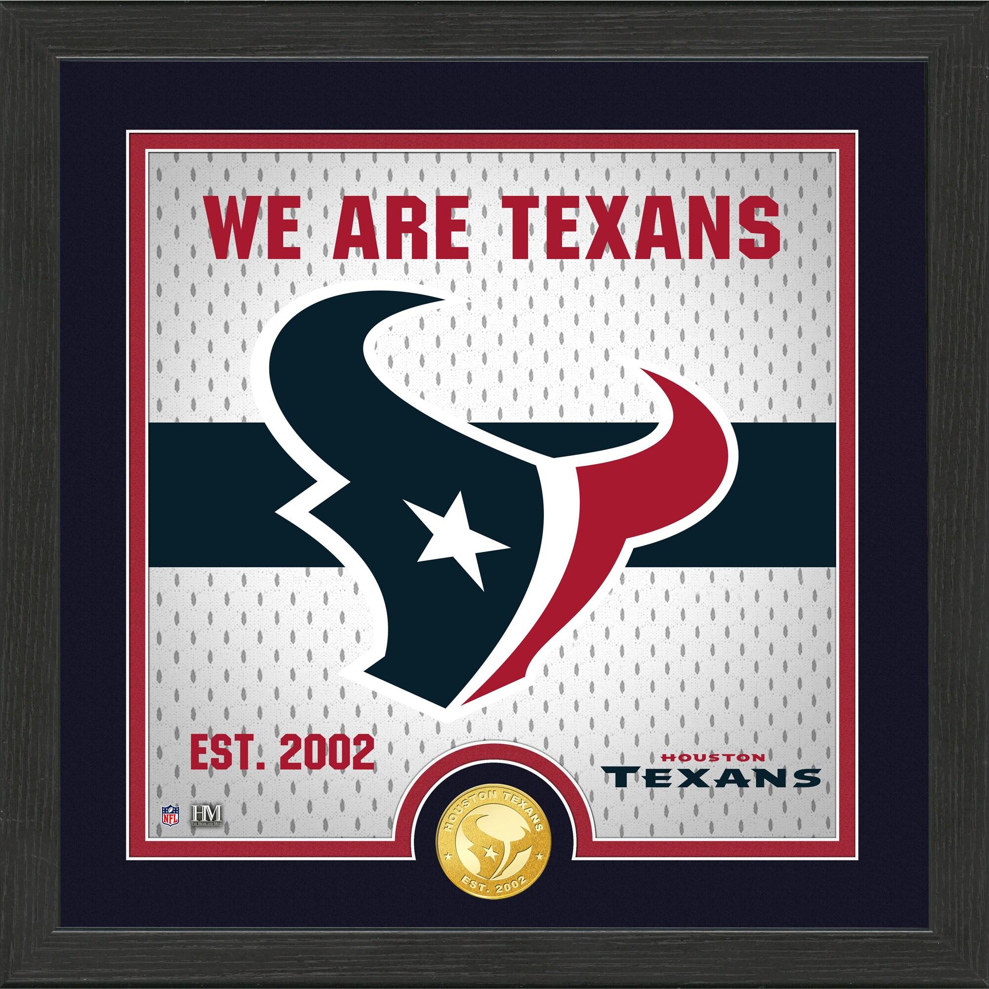 Houston Texans Highland Mint 13'' x 13'' Battle Cry Bronze Coin Photo Mint