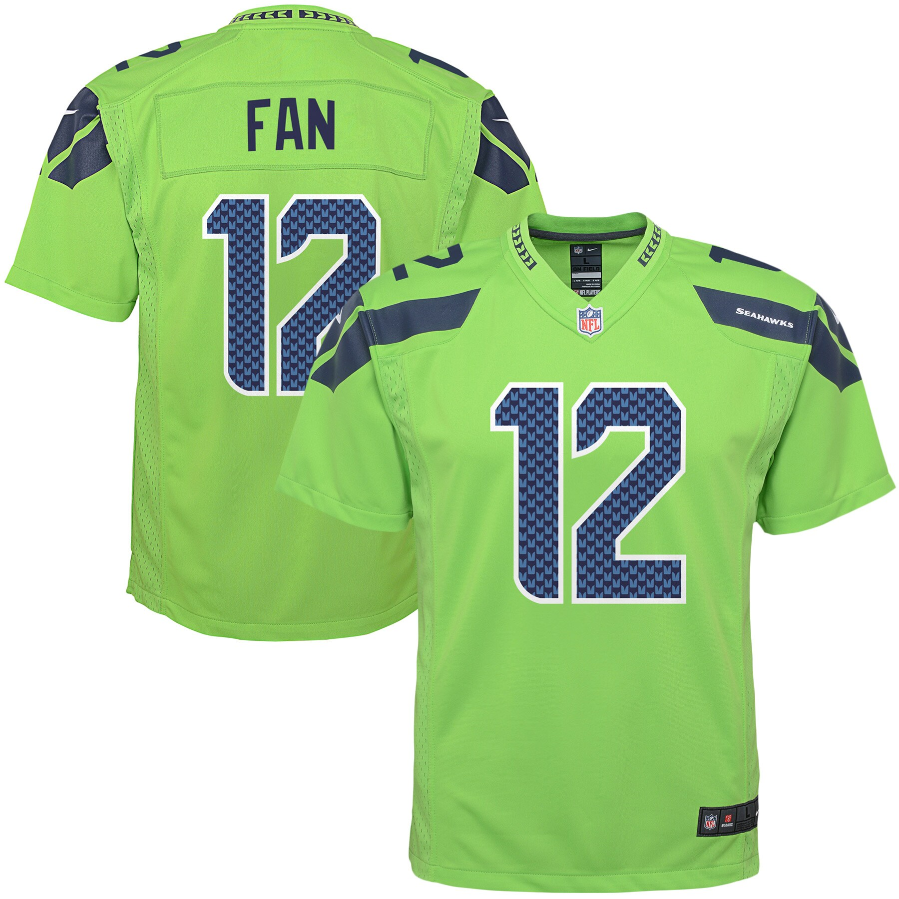 12s Seattle Seahawks Nike Youth Color Rush Game Jersey - Green