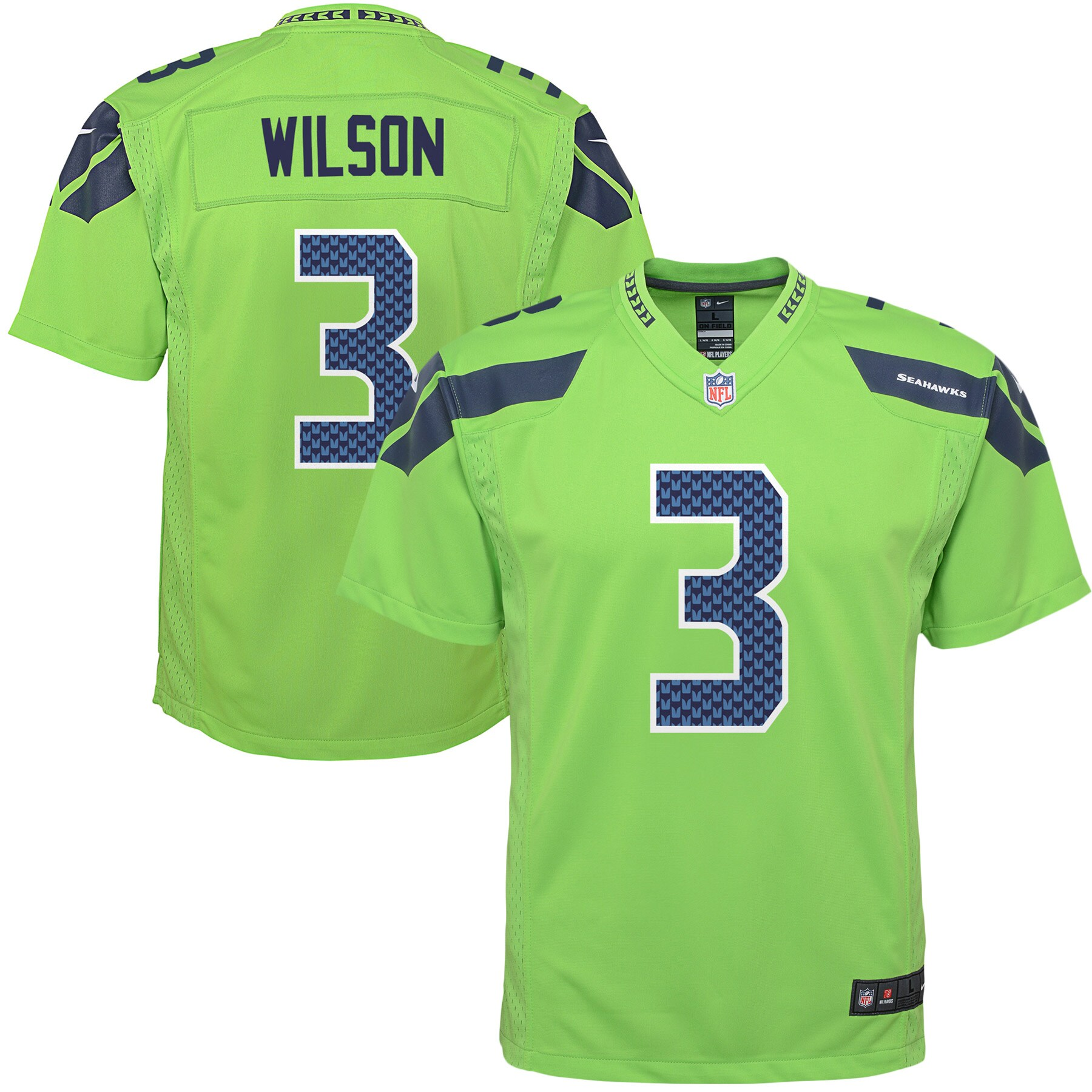 Russell Wilson Seattle Seahawks Nike Youth Color Rush Game Jersey - Green