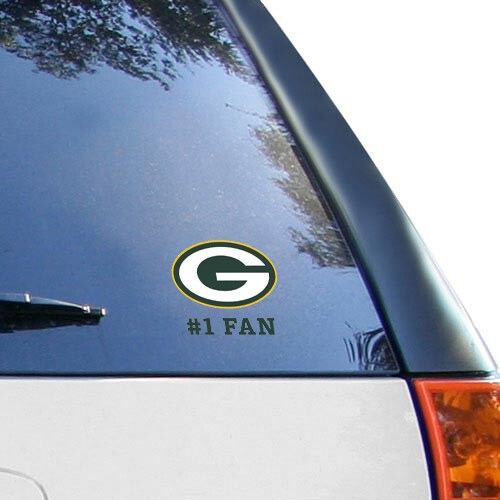 "Green Bay Packers WinCraft #1 Fan 3"" X 4"" Multi-use Decal"
