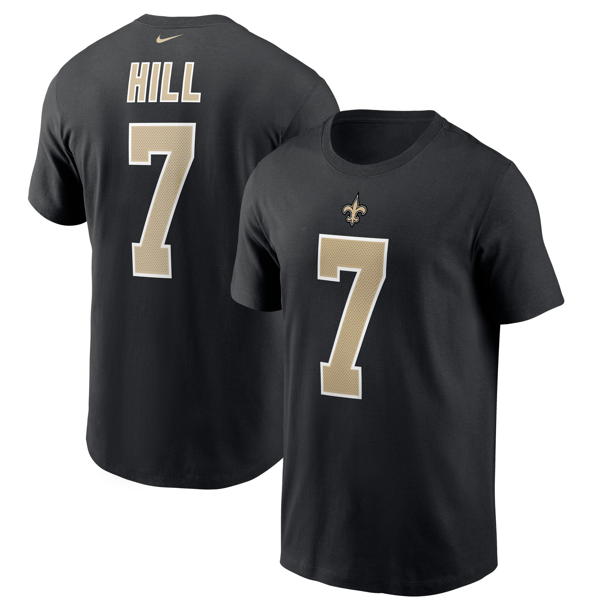 Taysom Hill New Orleans Saints Nike Player Name & Number T-Shirt - Black