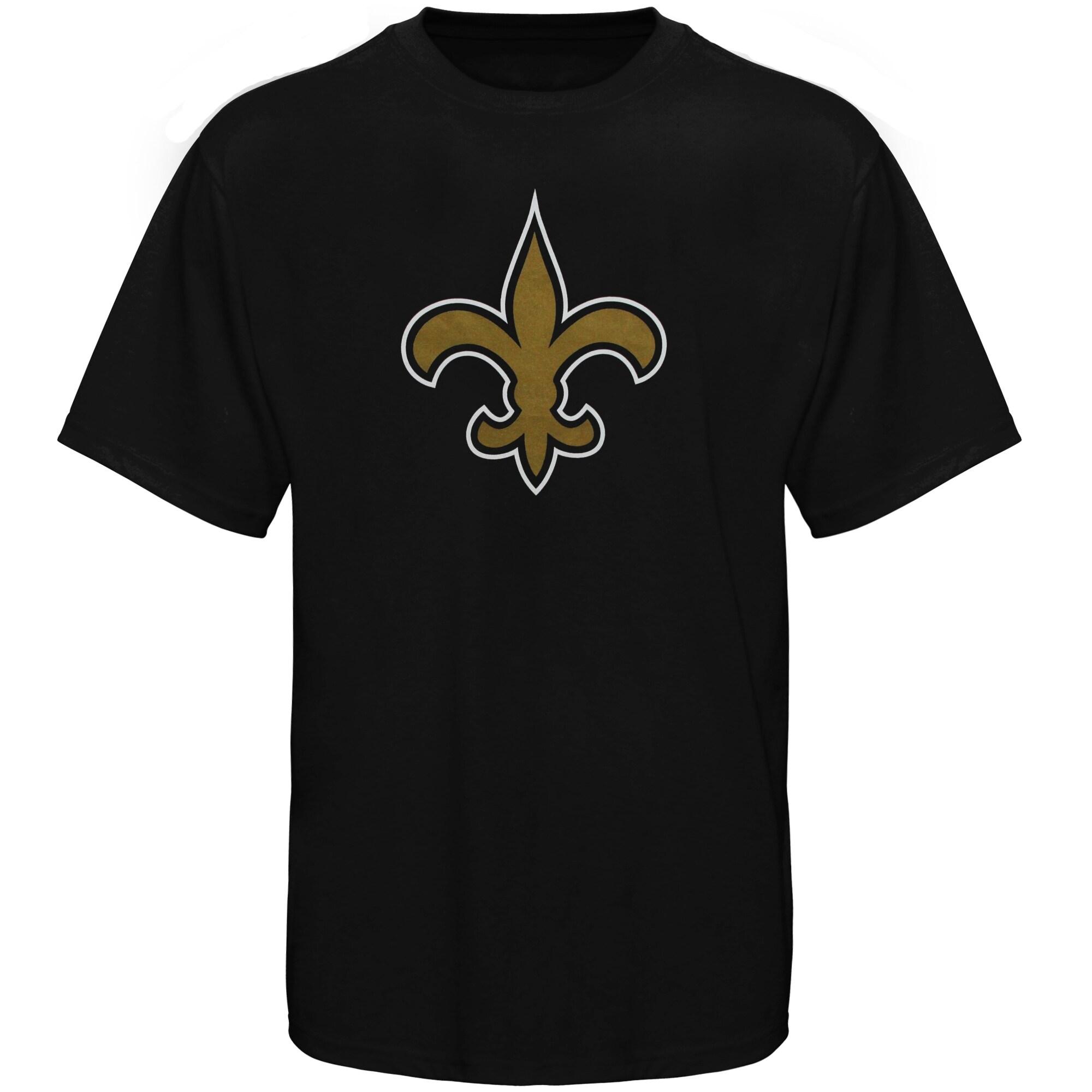 New Orleans Saints Youth Team Logo T-Shirt - Black