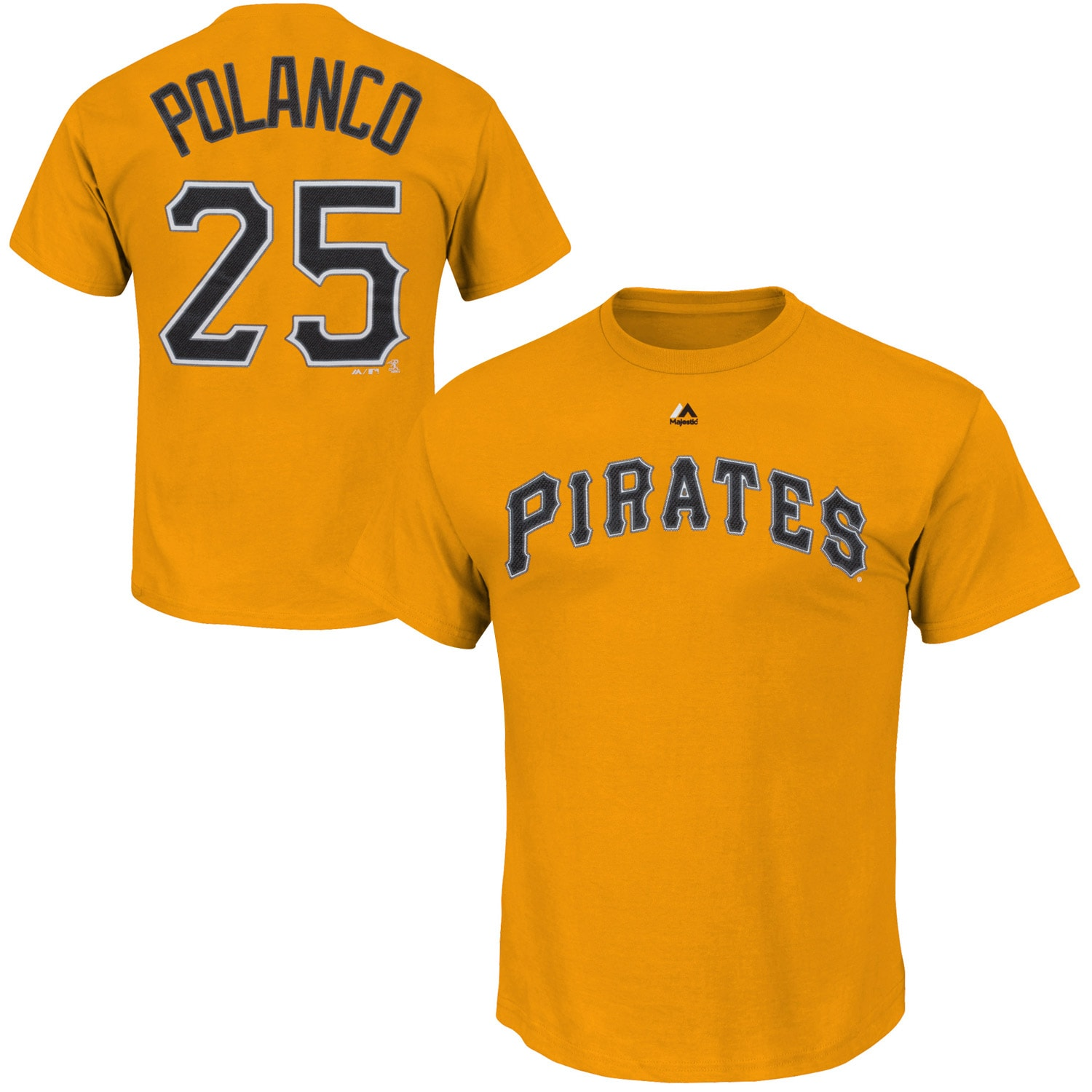 Gregory Polanco Pittsburgh Pirates Majestic Official Name and Number T-Shirt - Gold