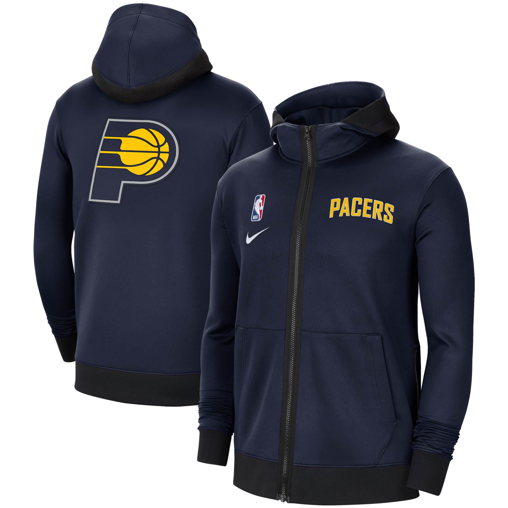 Indiana Pacers Nike Authentic Showtime Performance Full-Zip Hoodie Jacket - Navy