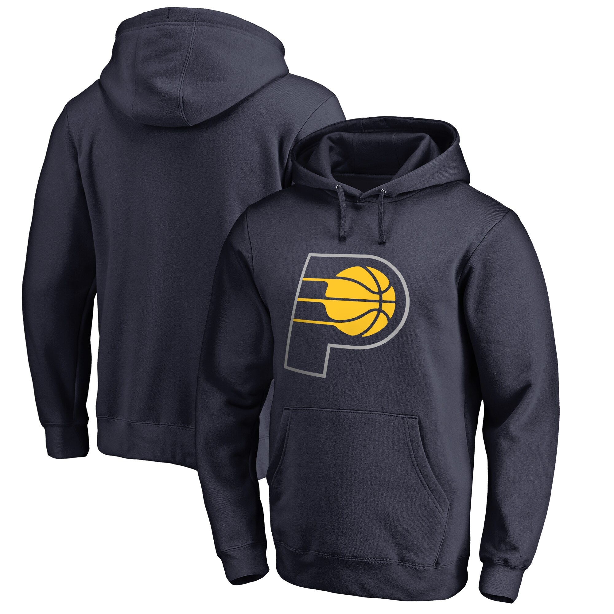 Indiana Pacers Fanatics Branded Big & Tall Team Primary Logo Pullover Hoodie - Navy